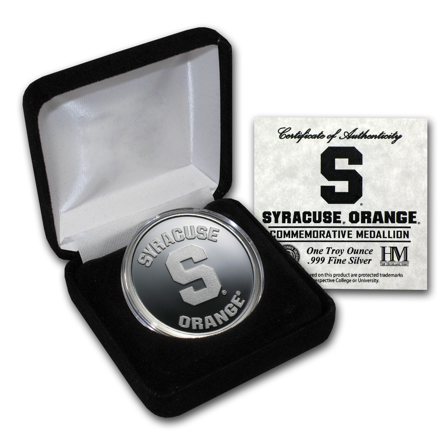 1 oz Syracuse University Silver Round