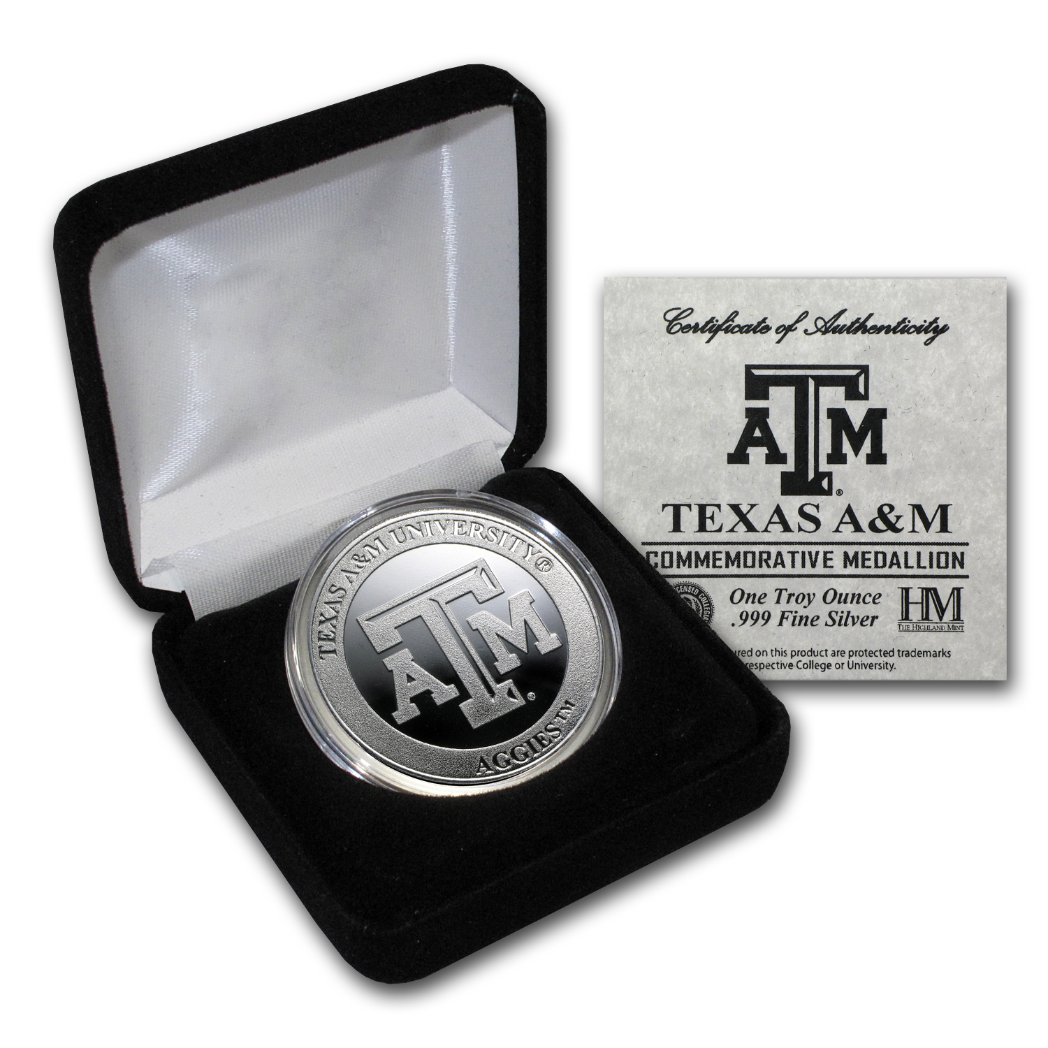 1 oz Texas A&M University Silver Round