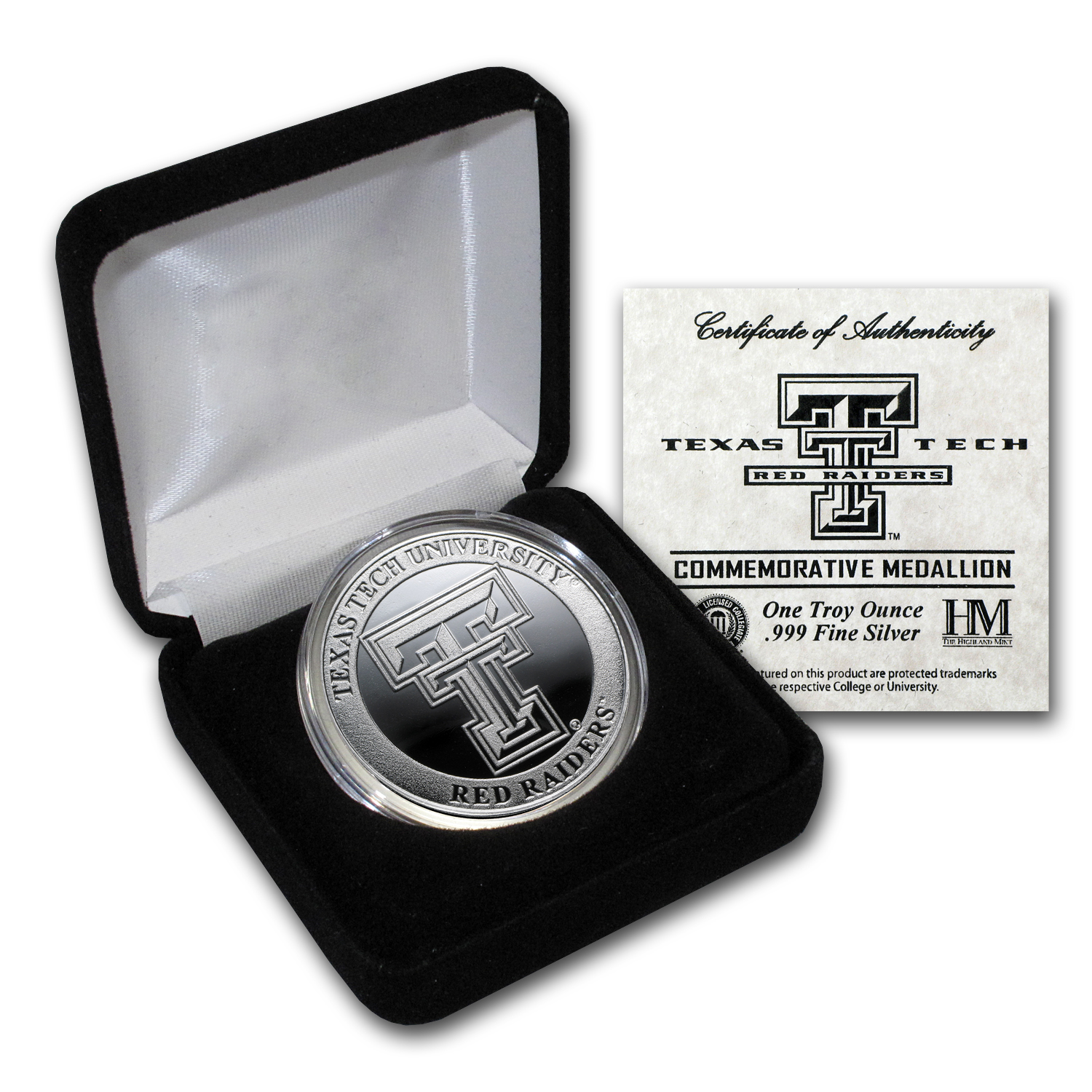 1 oz Texas Tech University Silver Round