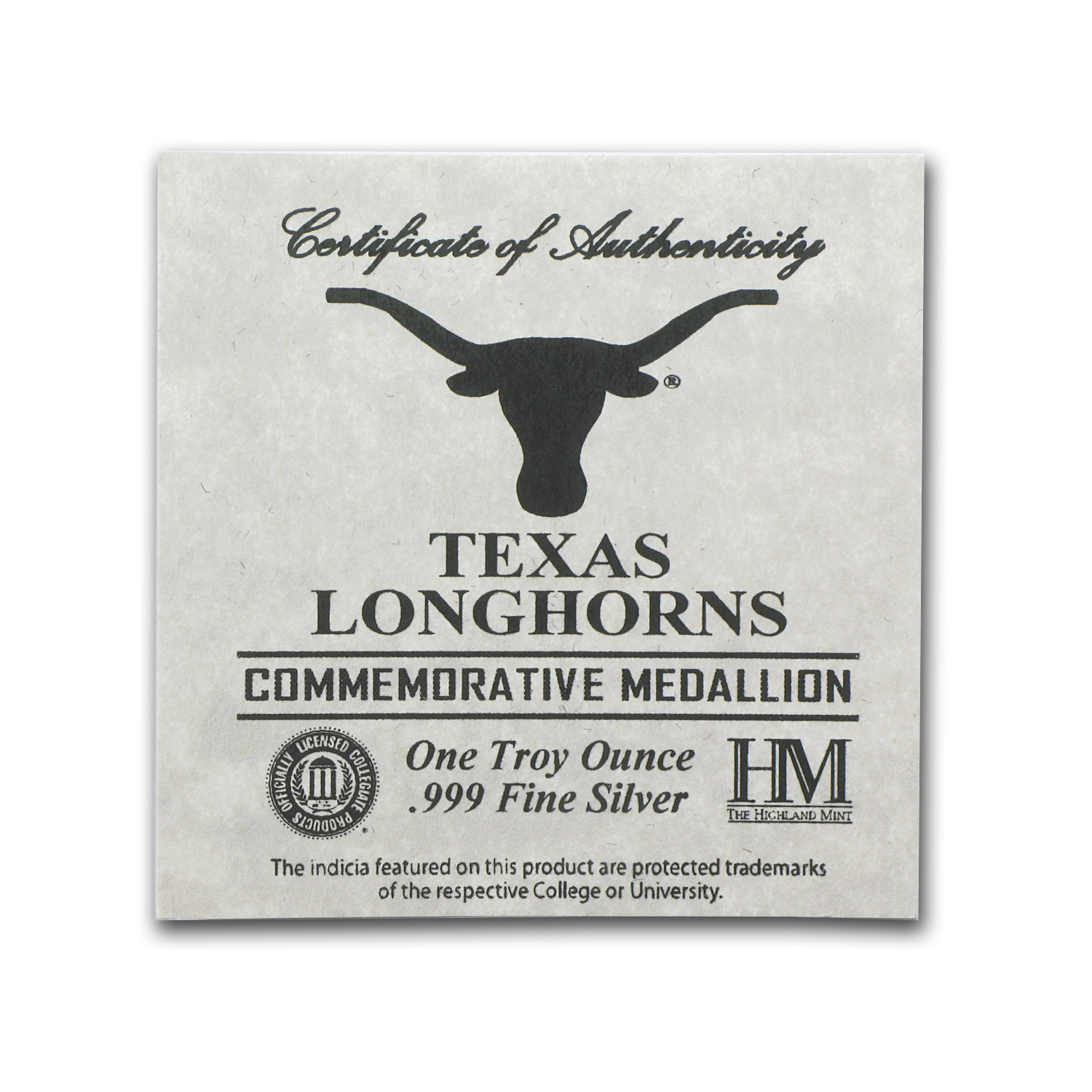 1 oz Silver Round - University of Texas