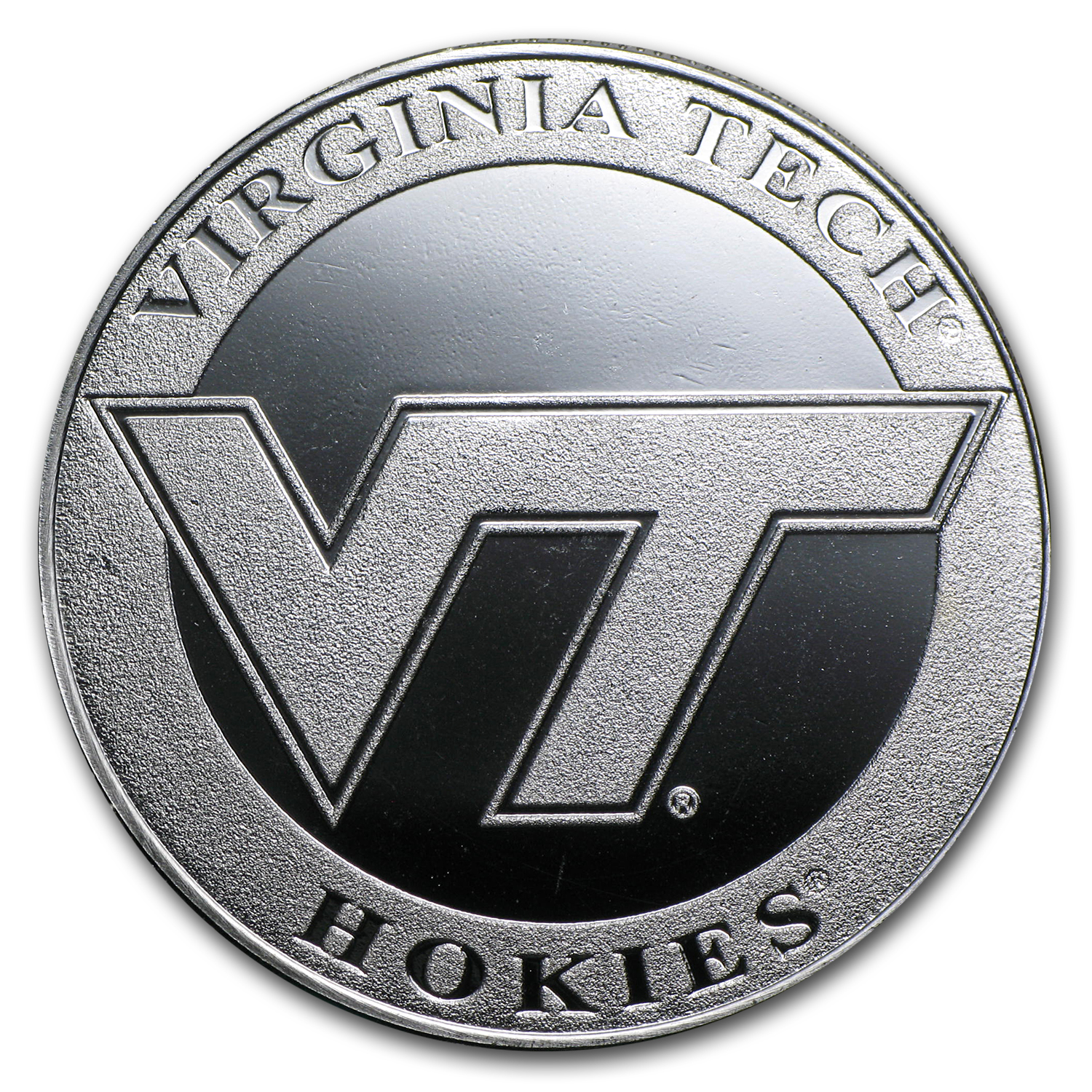 1 oz Virginia Tech Silver Round