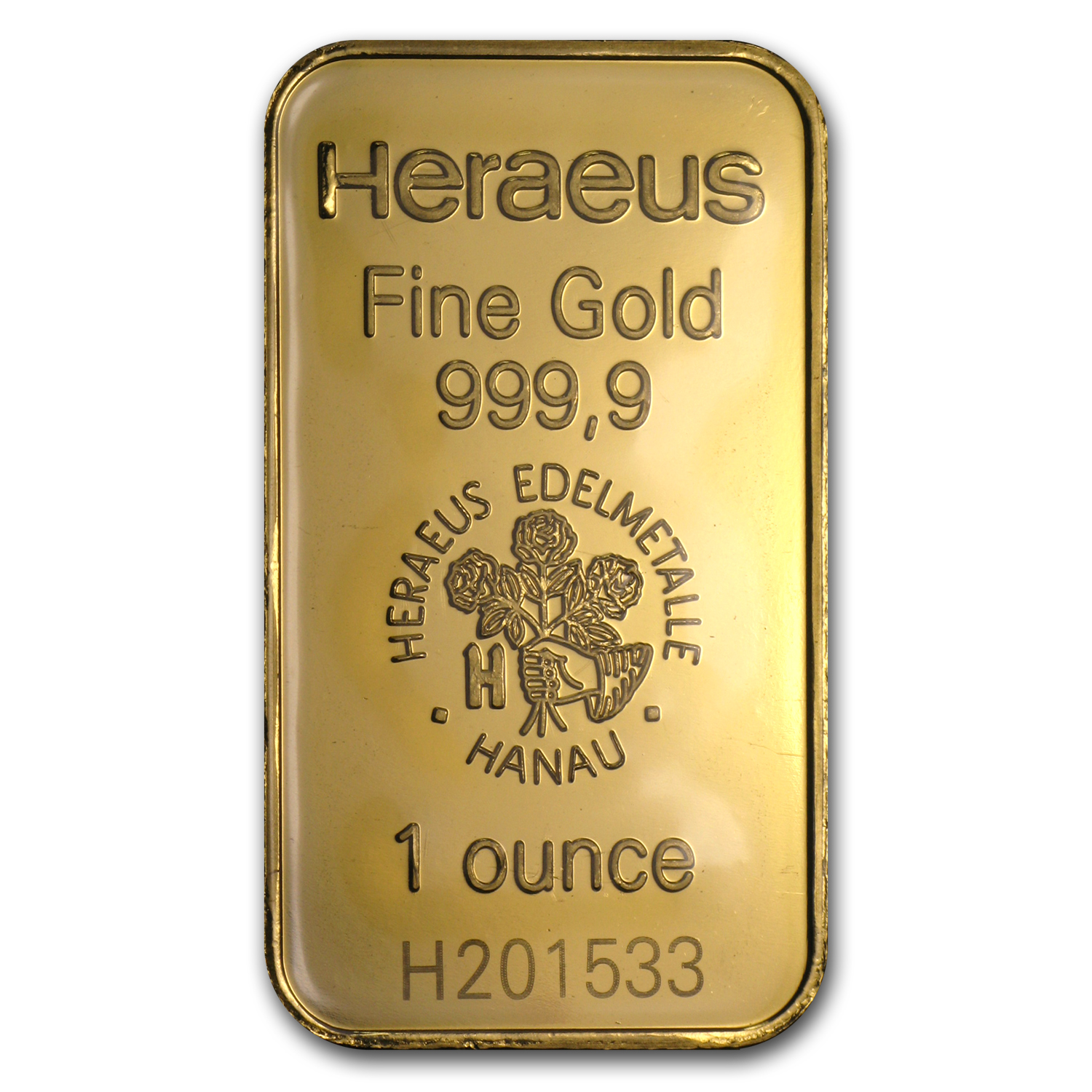 1 oz Gold Bars - Heraeus (New)