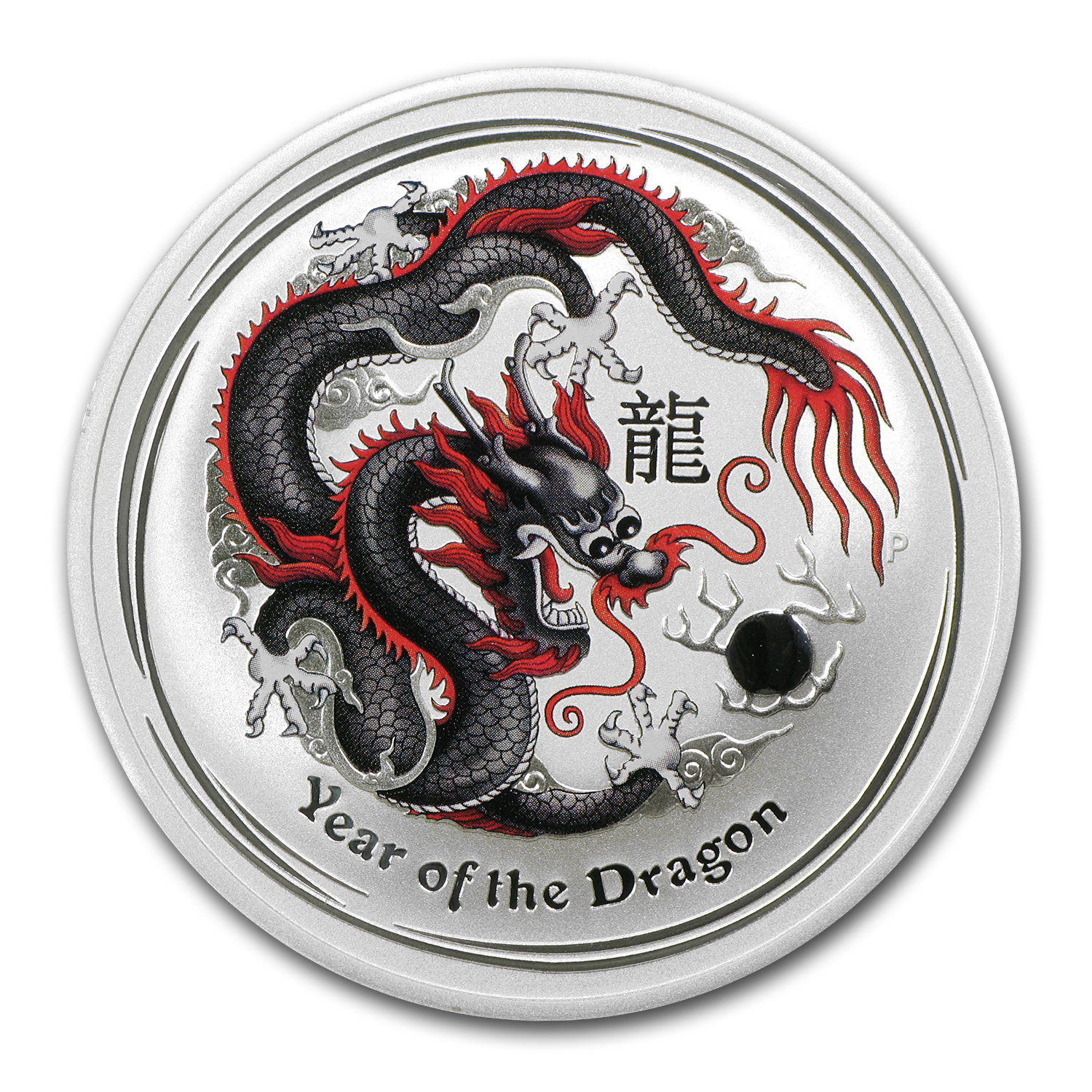 2012 Australia 1 oz Silver Black Dragon BU (Berlin)