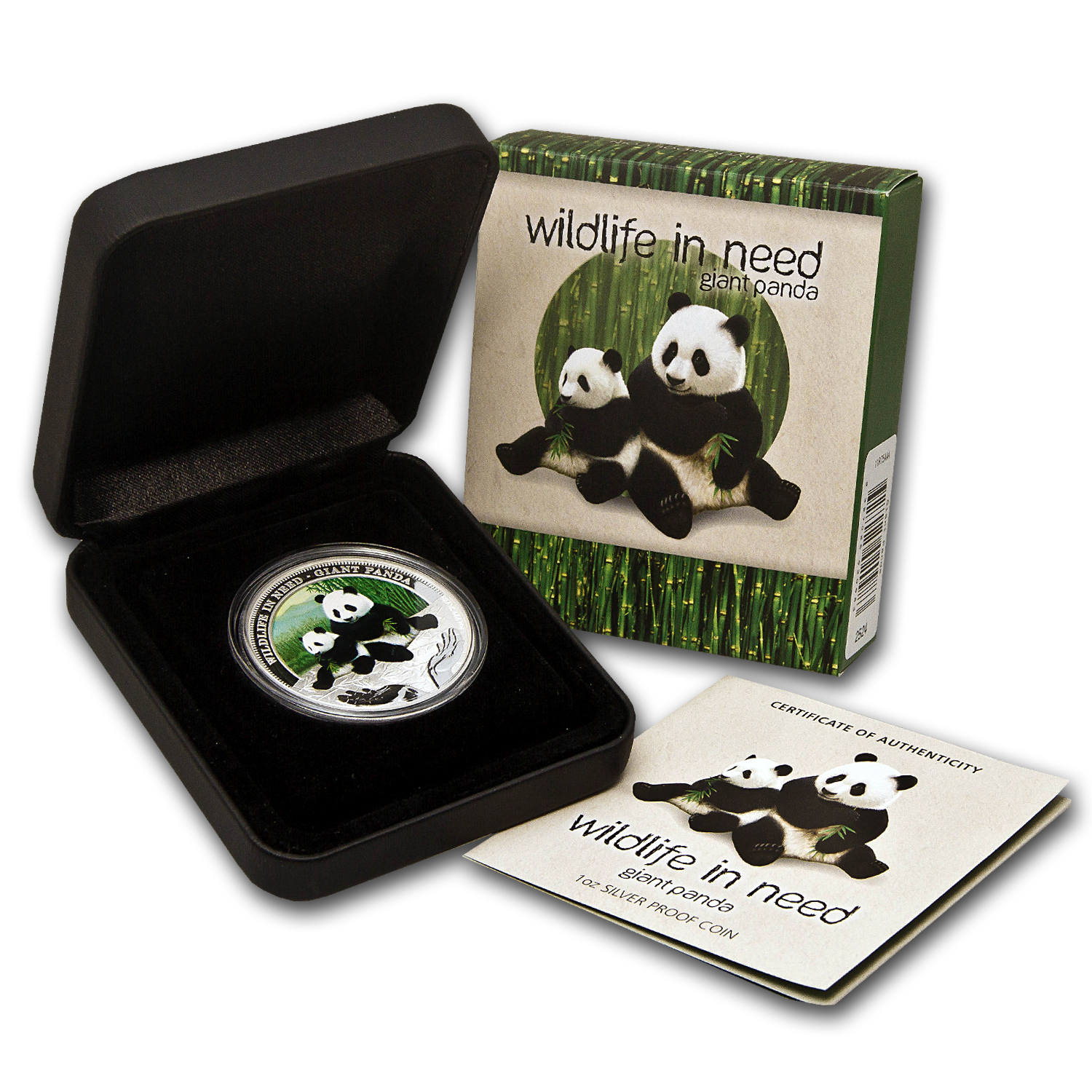 2011 Tuvalu 1 oz Silver Giant Panda Proof (w/ Box & COA)