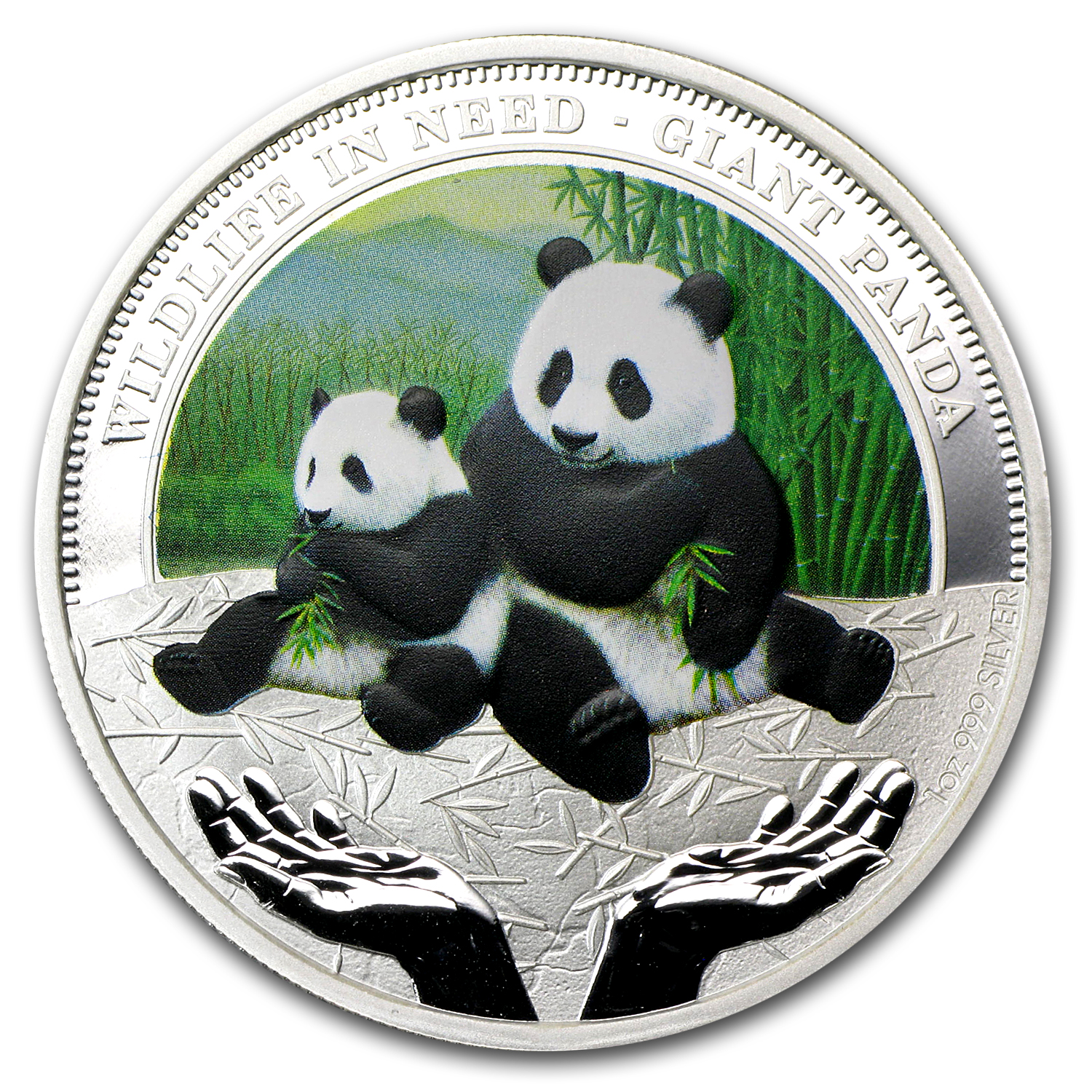 2011 1 oz Silver Tuvalu Giant Panda Proof