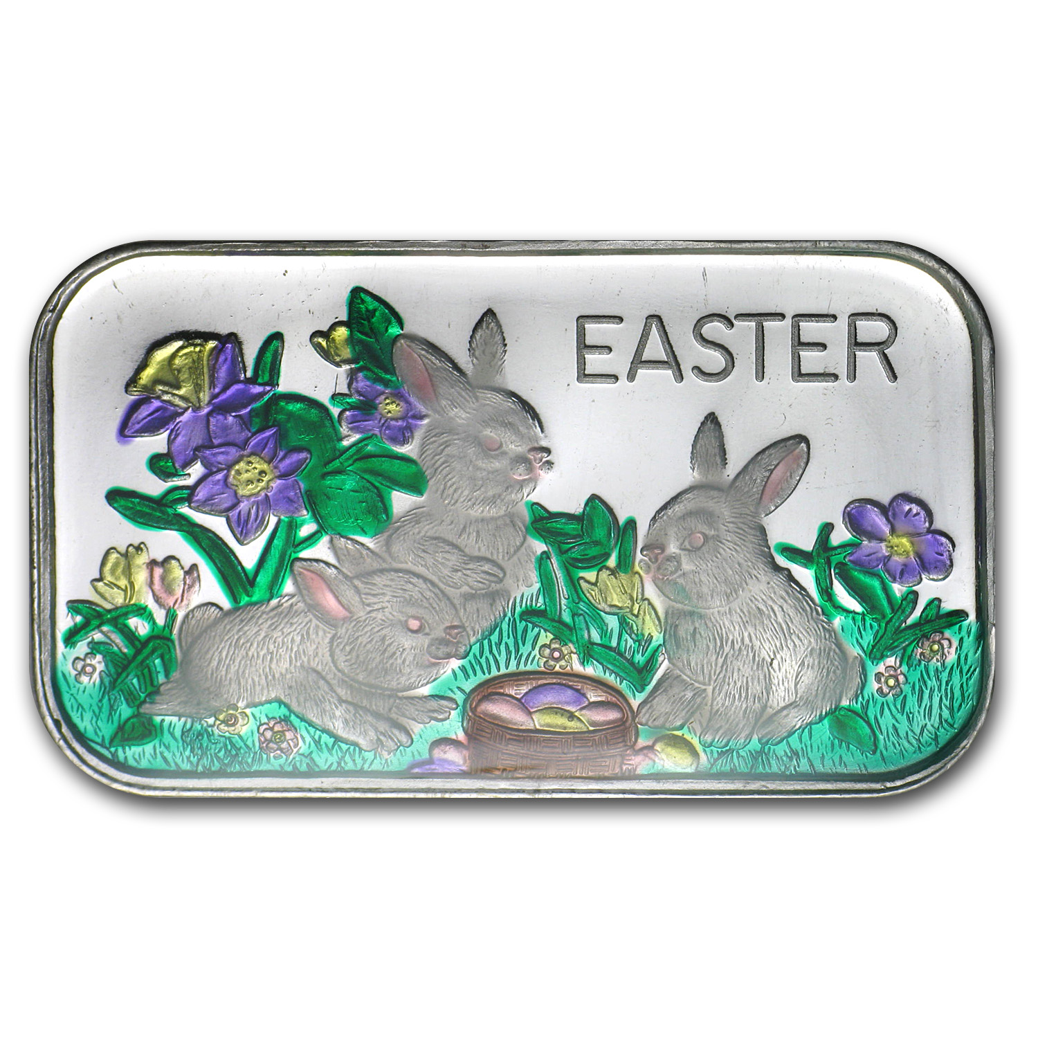 1 oz Silver Bar - Easter Enameled (w/Box & Capsule)