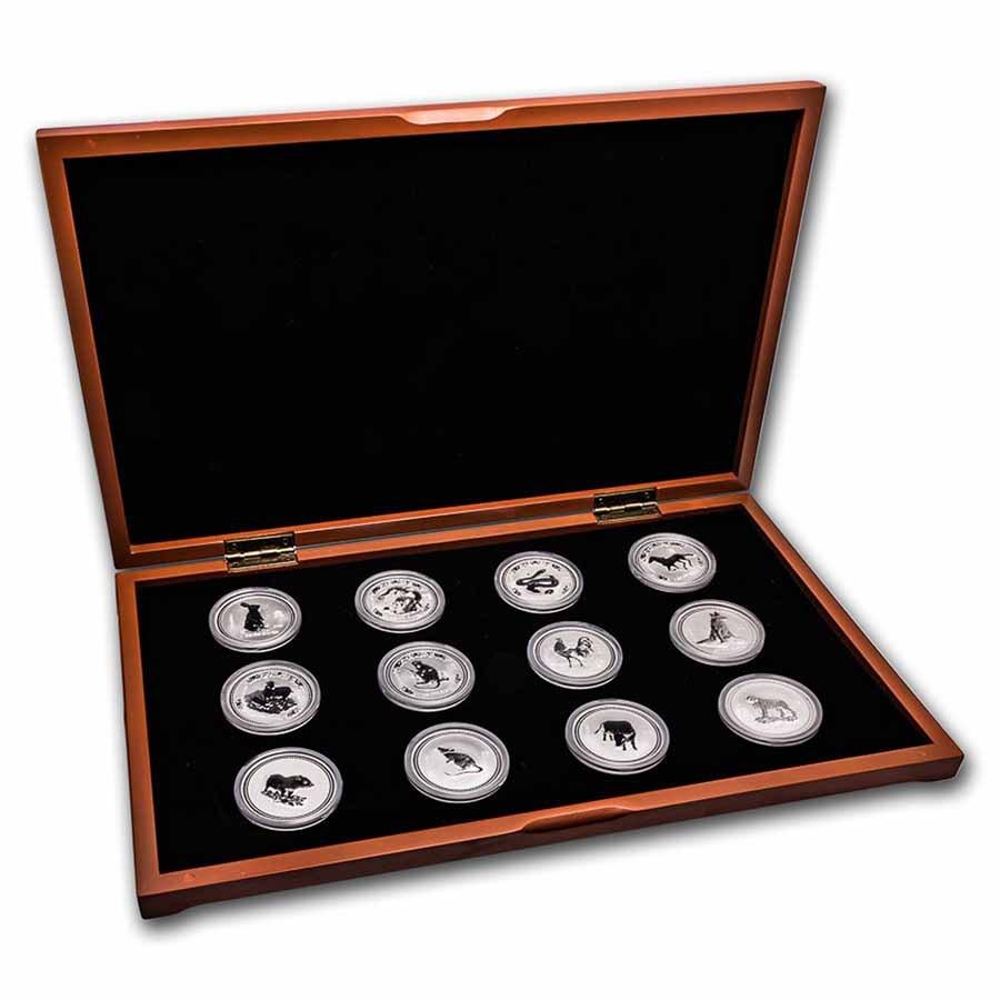 1999 2010 Australia 12 Coin 1 Oz Silver Lunar Set Si