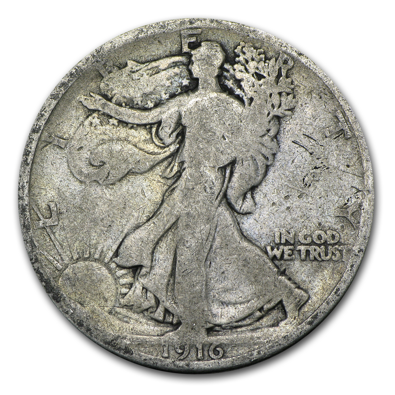 1916 Walking Liberty Half Dollar AG