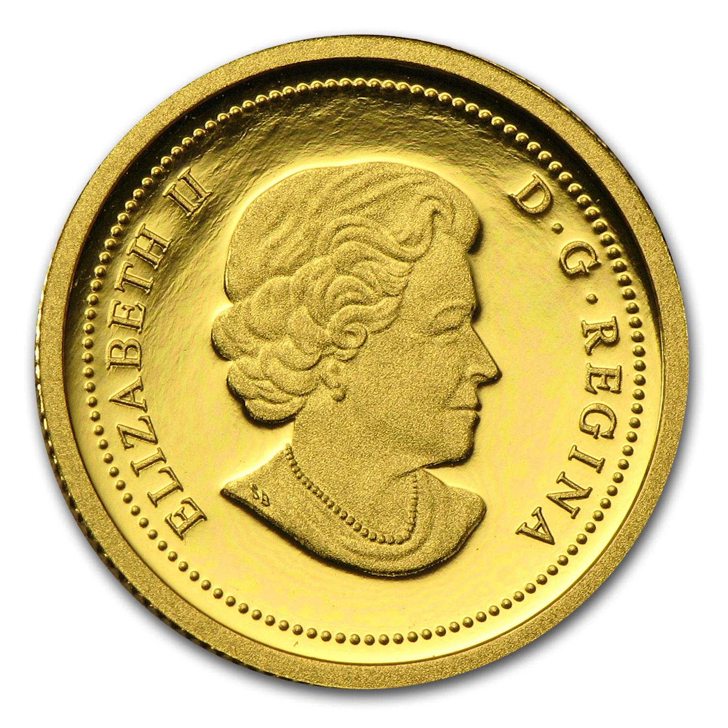 2012 1/10 oz Gold Canadian Queen's Diamond Jubilee