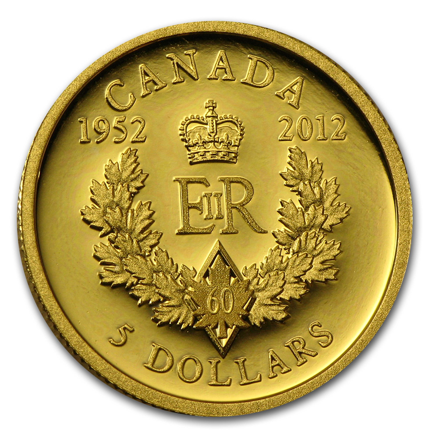 2012 Canada 1/10 oz Proof Gold Queen's Diamond Jubilee