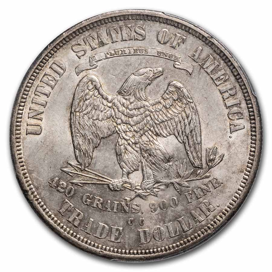 1875-CC Trade Dollar AU-58 Chop Mark PCGS