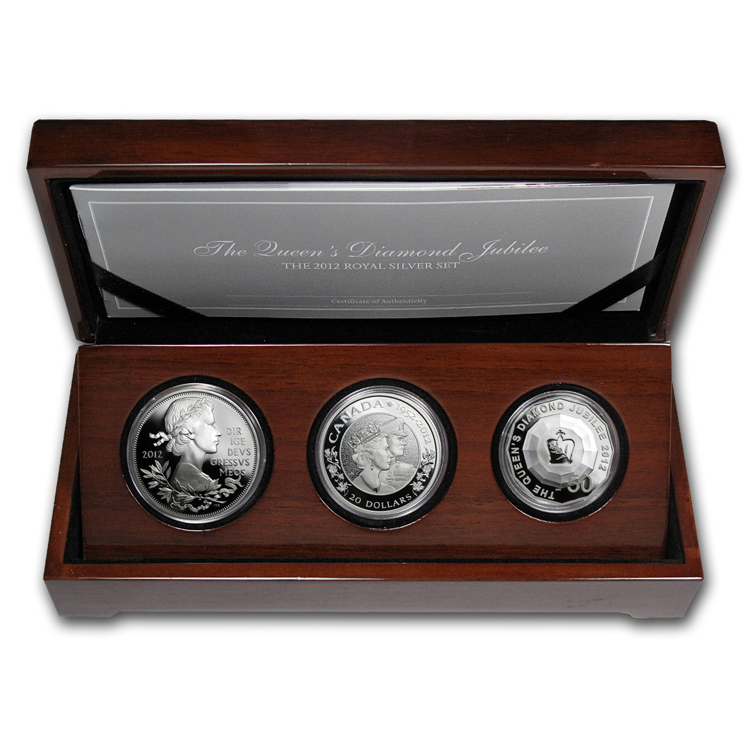 2012 3-Coin Silver Queen's Diamond Jubilee Set (w/Box)