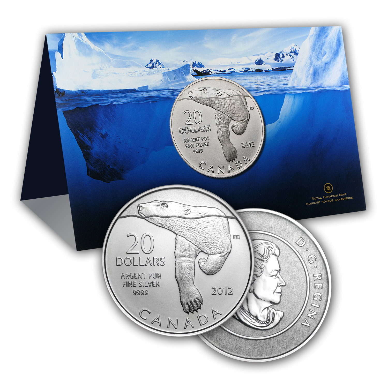 2012 1/4 oz Silver Canadian $20 Polar Bear (w/COA Card)