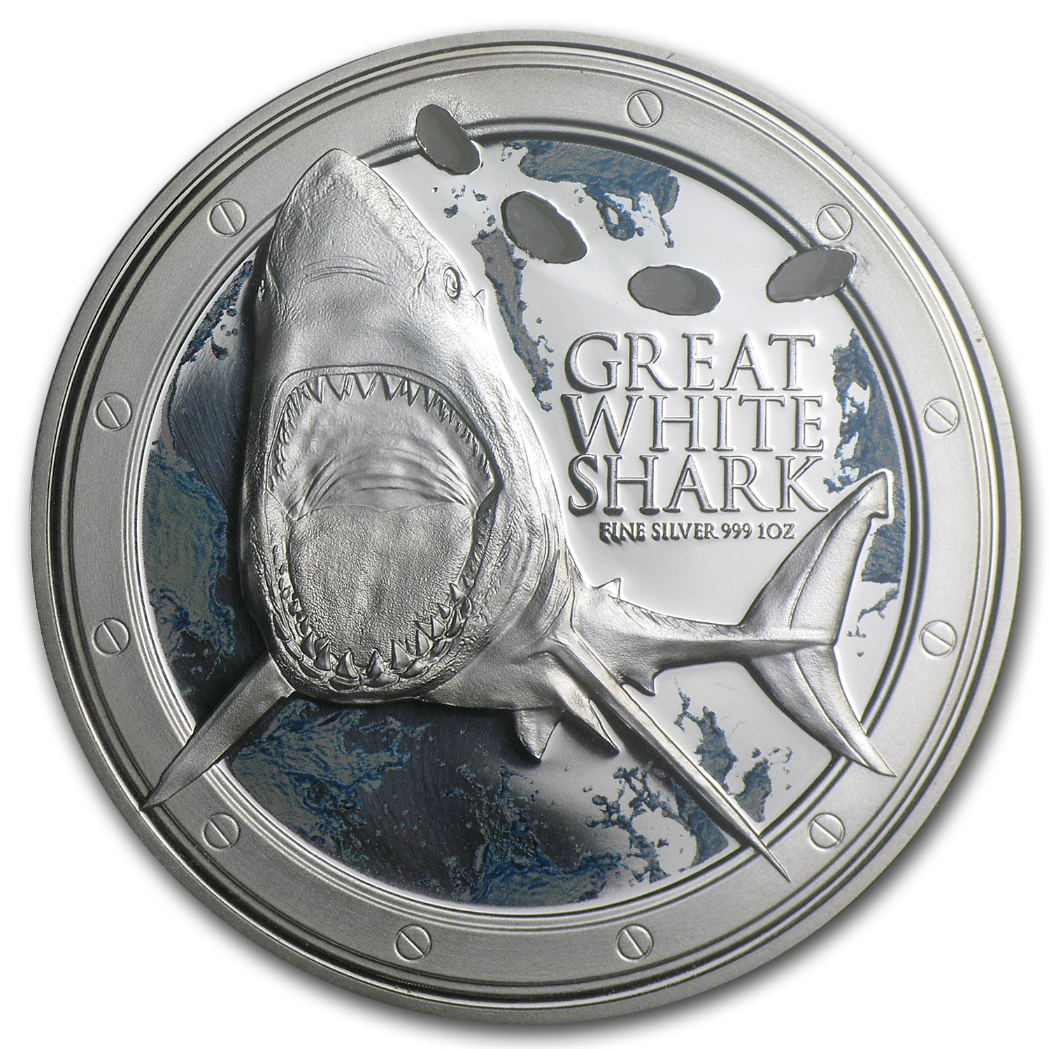 2012 1 oz Silver Niue $2 Great White Shark (W/Box & COA)