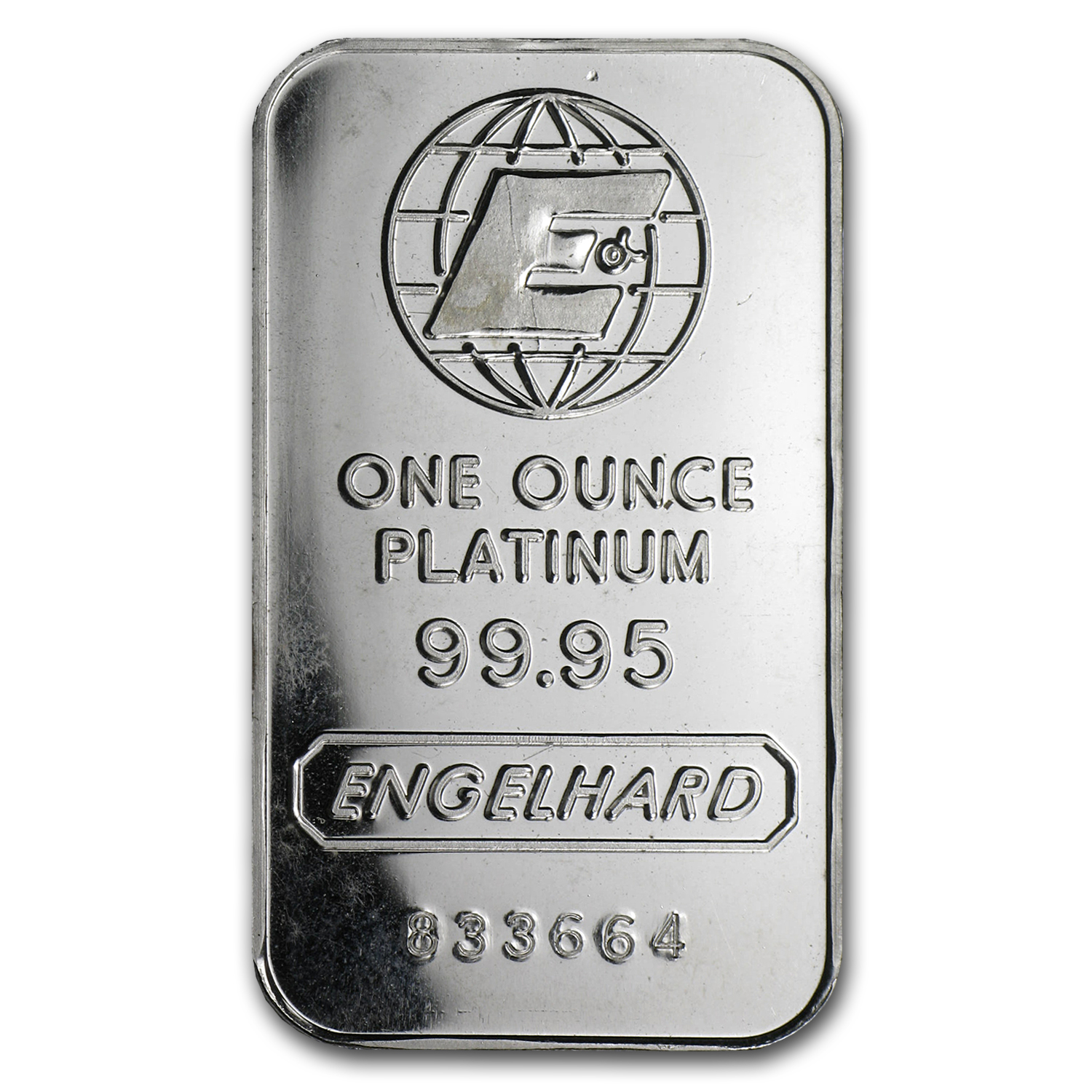 1 oz Platinum Bar - Engelhard (.9995 Fine, 'E' logo, No Assay)