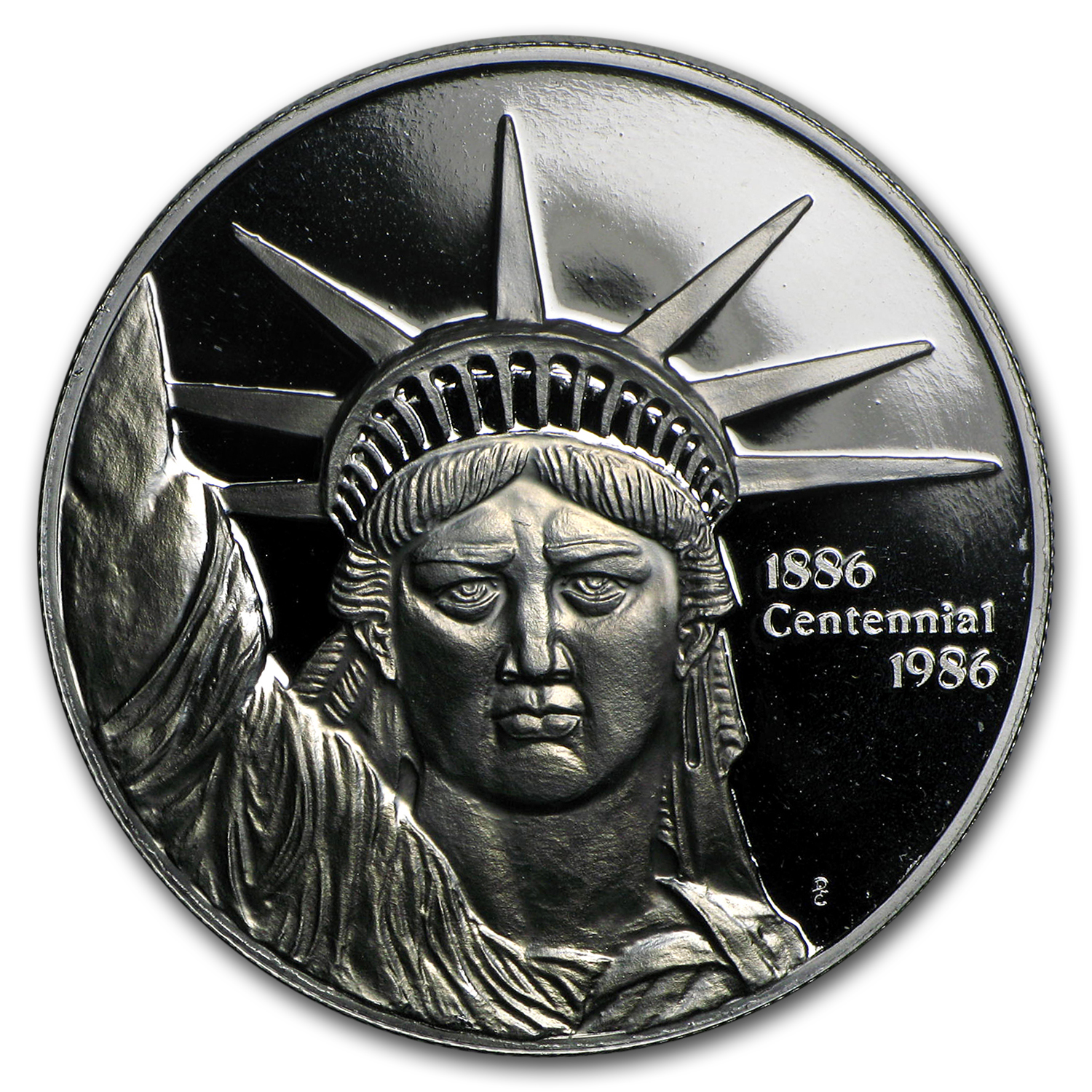 1 oz Platinum Round - Engelhard Liberty Trade (.9995 Fine)