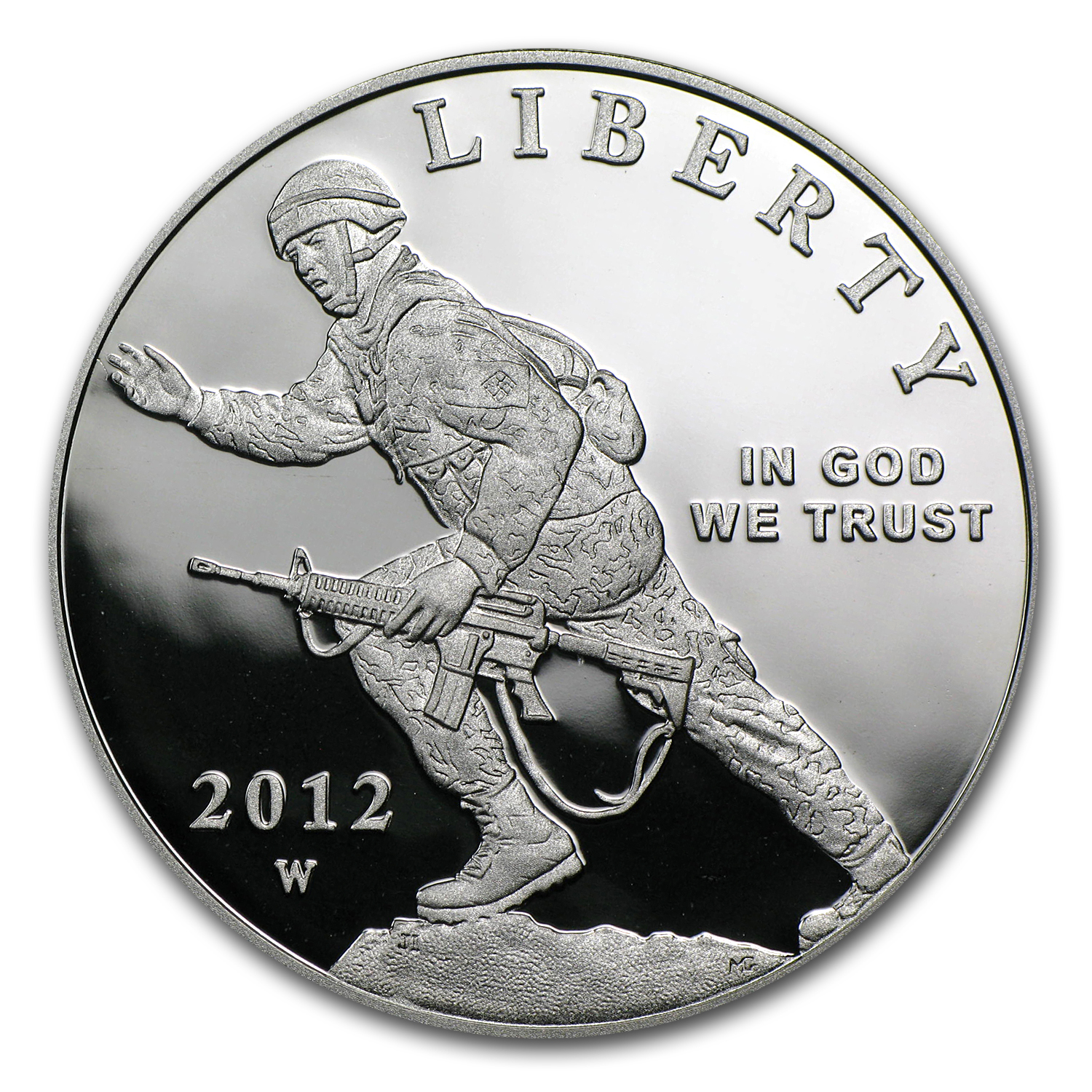 2012-W Infantry Soldier $1 Silver Commemorative Proof