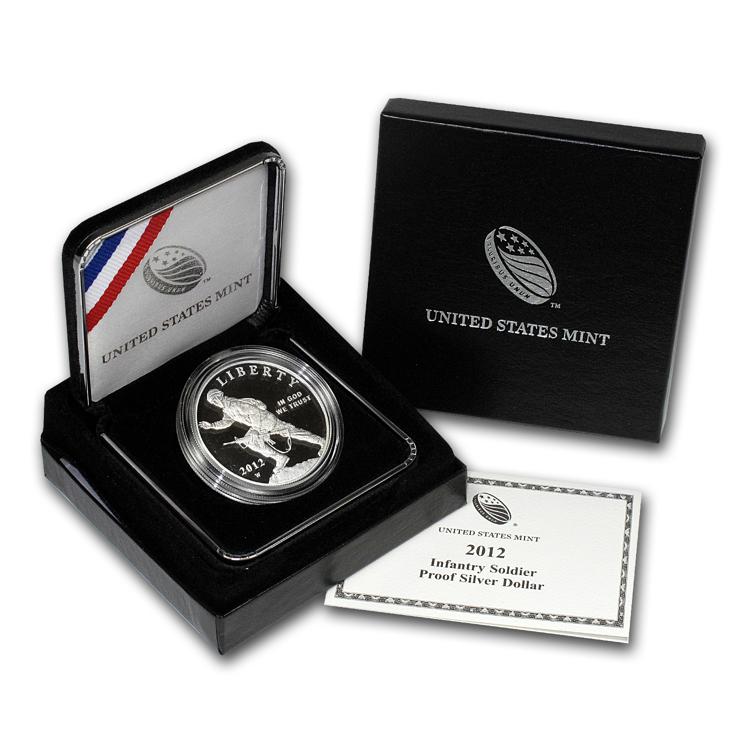 2012-W Infantry Soldier $1 Silver Commem Proof (w/Box & COA)