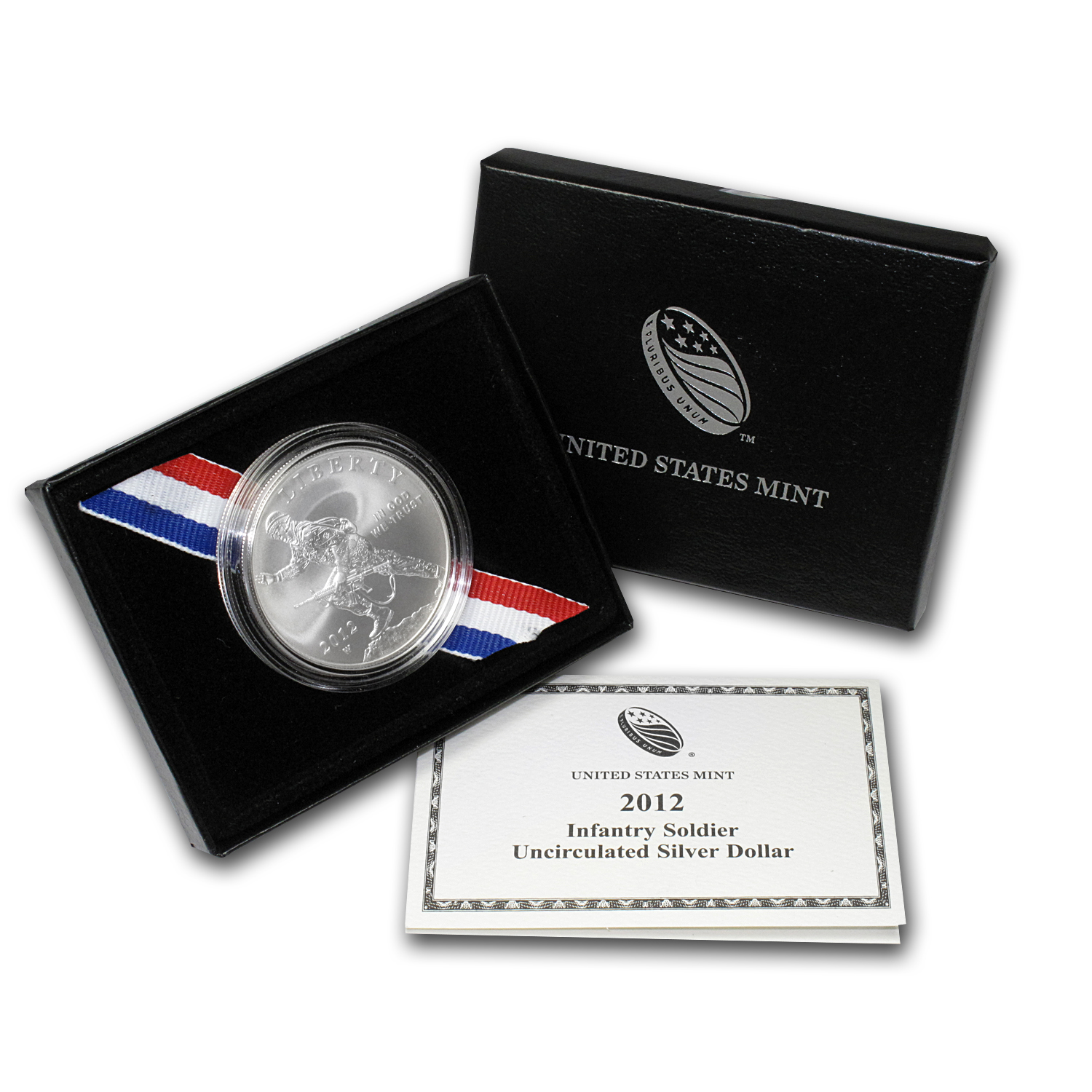 2012-W Infantry Soldier $1 Silver Commemorative -Uncirculated