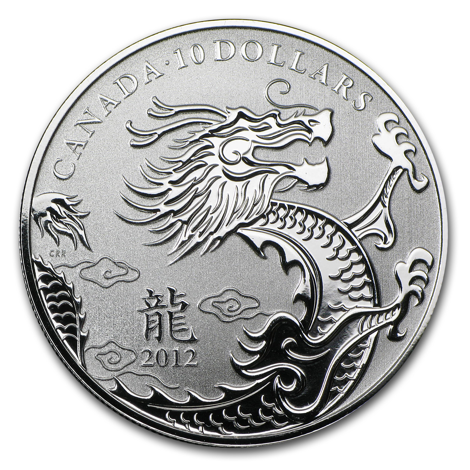 2012 Canada 1/2 oz Silver $10 Year of the Dragon (w/COA)