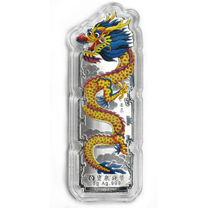 5 gram Silver Bars - Year of the Dragon (2012/Colorized)