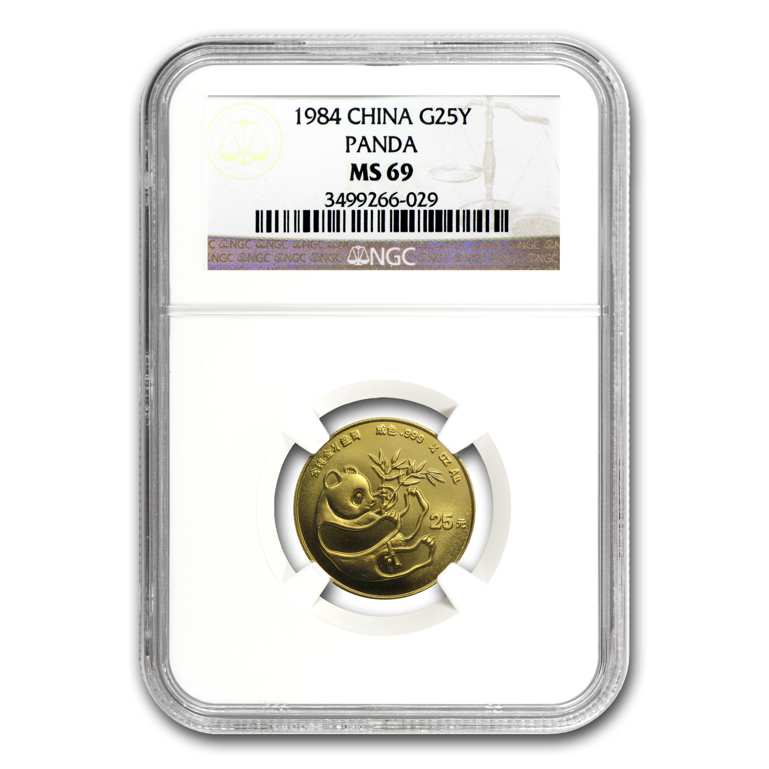 1984 (1/4 oz) Gold Chinese Panda - MS-69 NGC