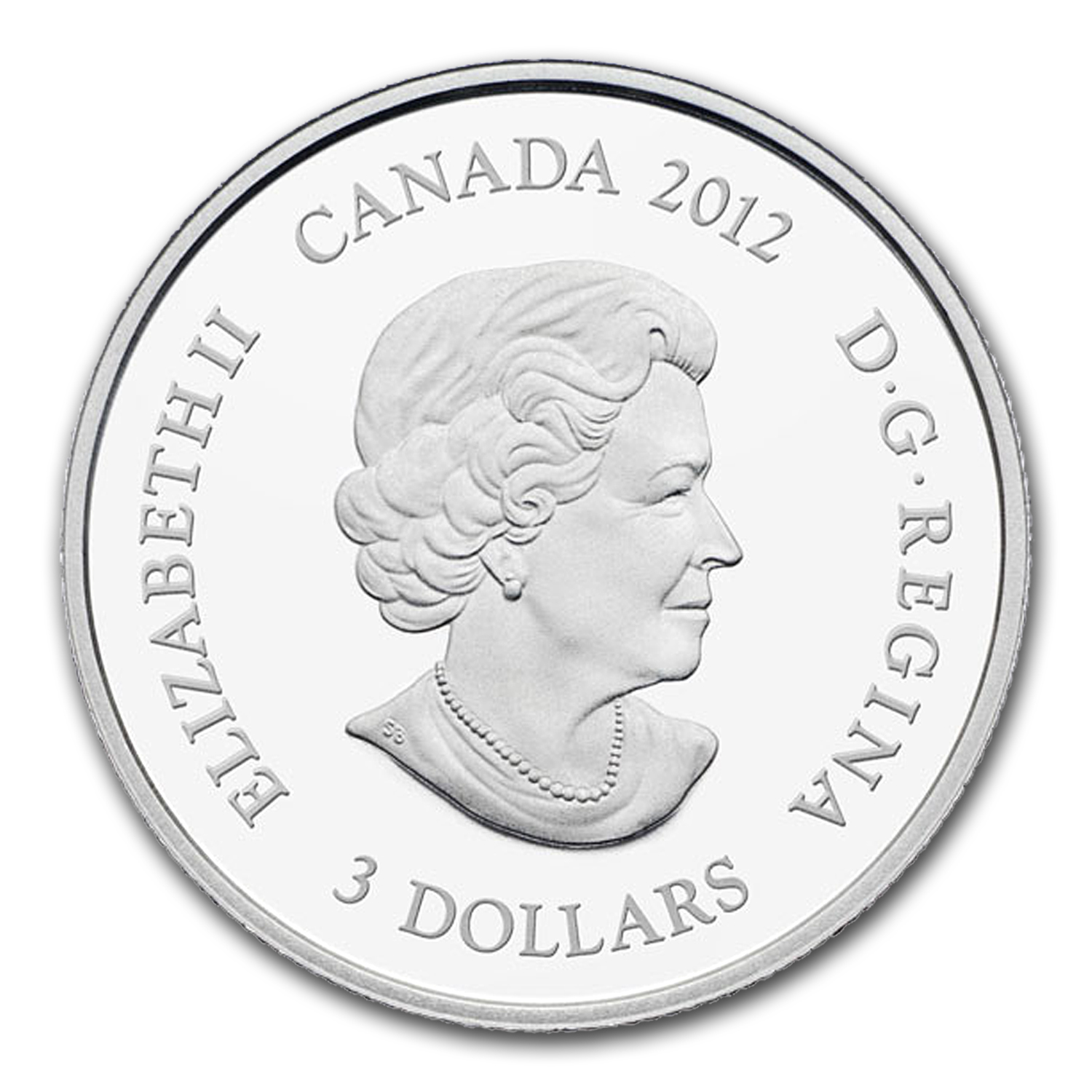 2012 1/4 oz Silver Canadian $3 Birthstone Coin January Garnet