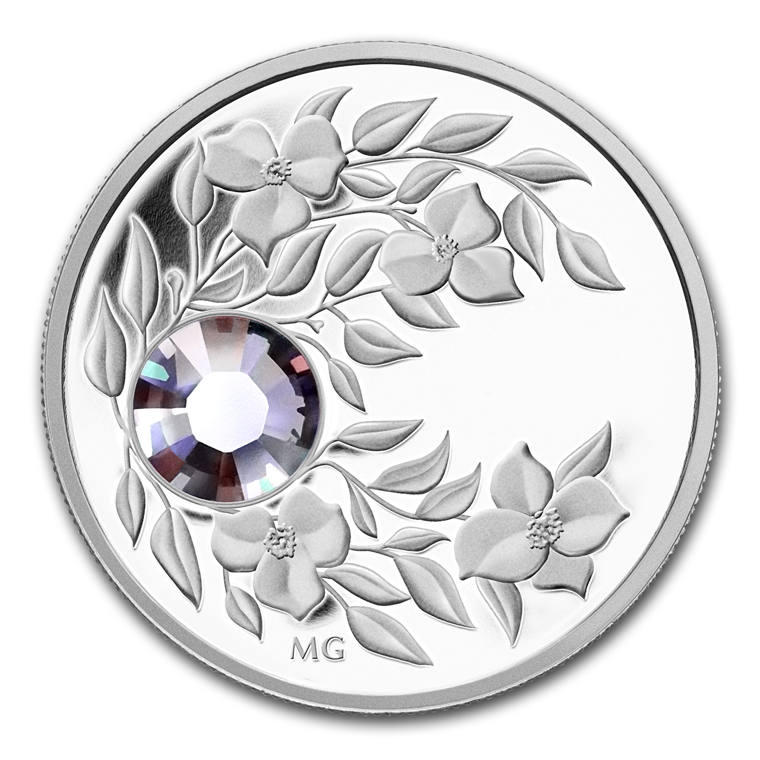 2012 1/4 oz Silver Canadian $3 Birthstone Coin June Alexandrite