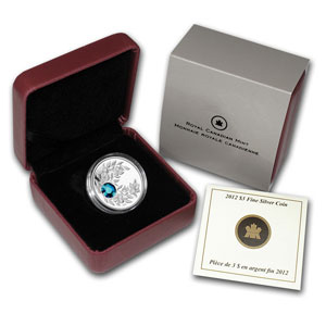 2012 Canada 1/4 oz Silver $3 Birthstone Coin December Zircon