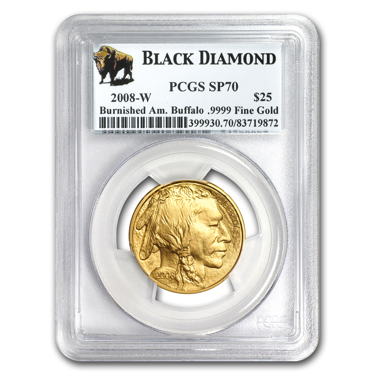 2008-W 4-Coin Gold Buffalo Set SP/MS-70 PCGS (Black Diamond)