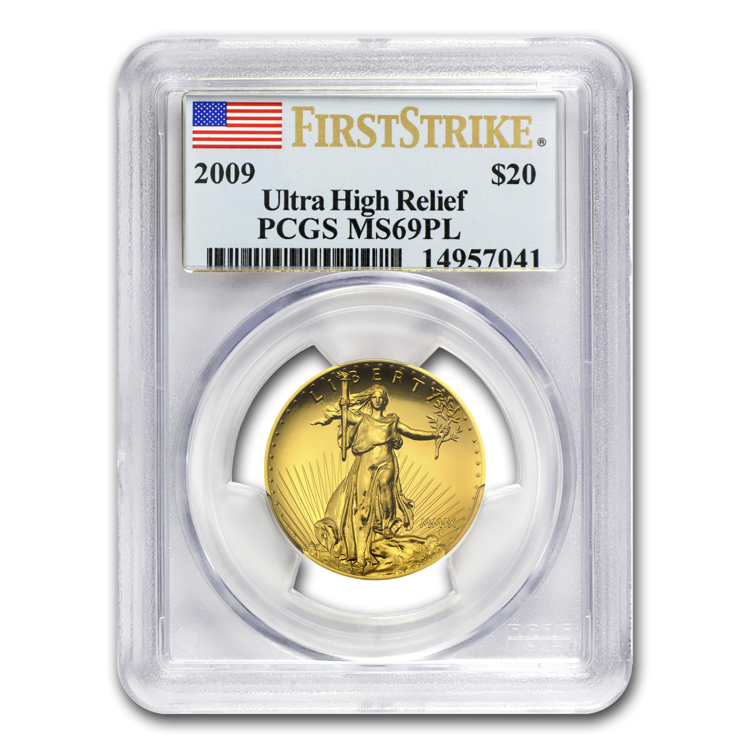 2009 Ultra High Relief Double Eagle MS-69 PL PCGS (FS)