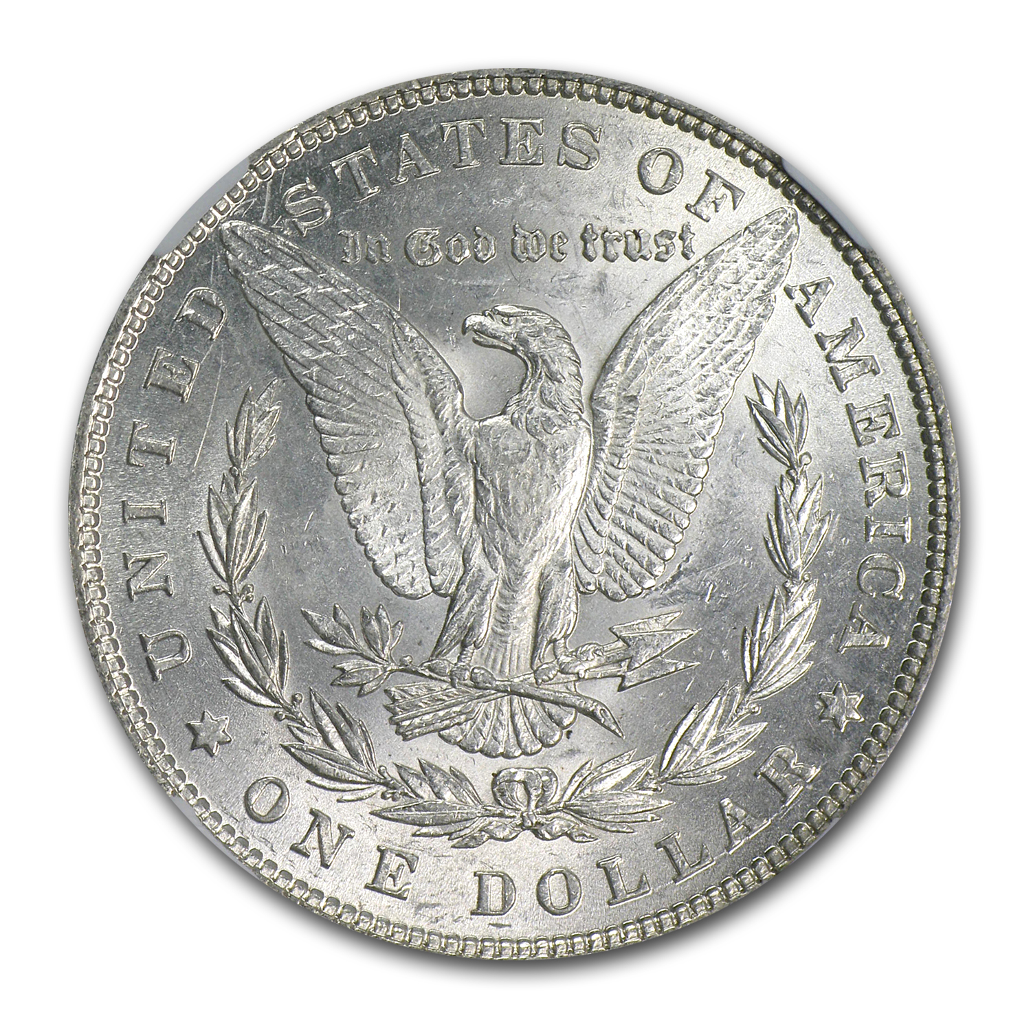 1880/79 Morgan Dollar AU-58 NGC (VAM-23, 80/79 Overdate, Top-100)