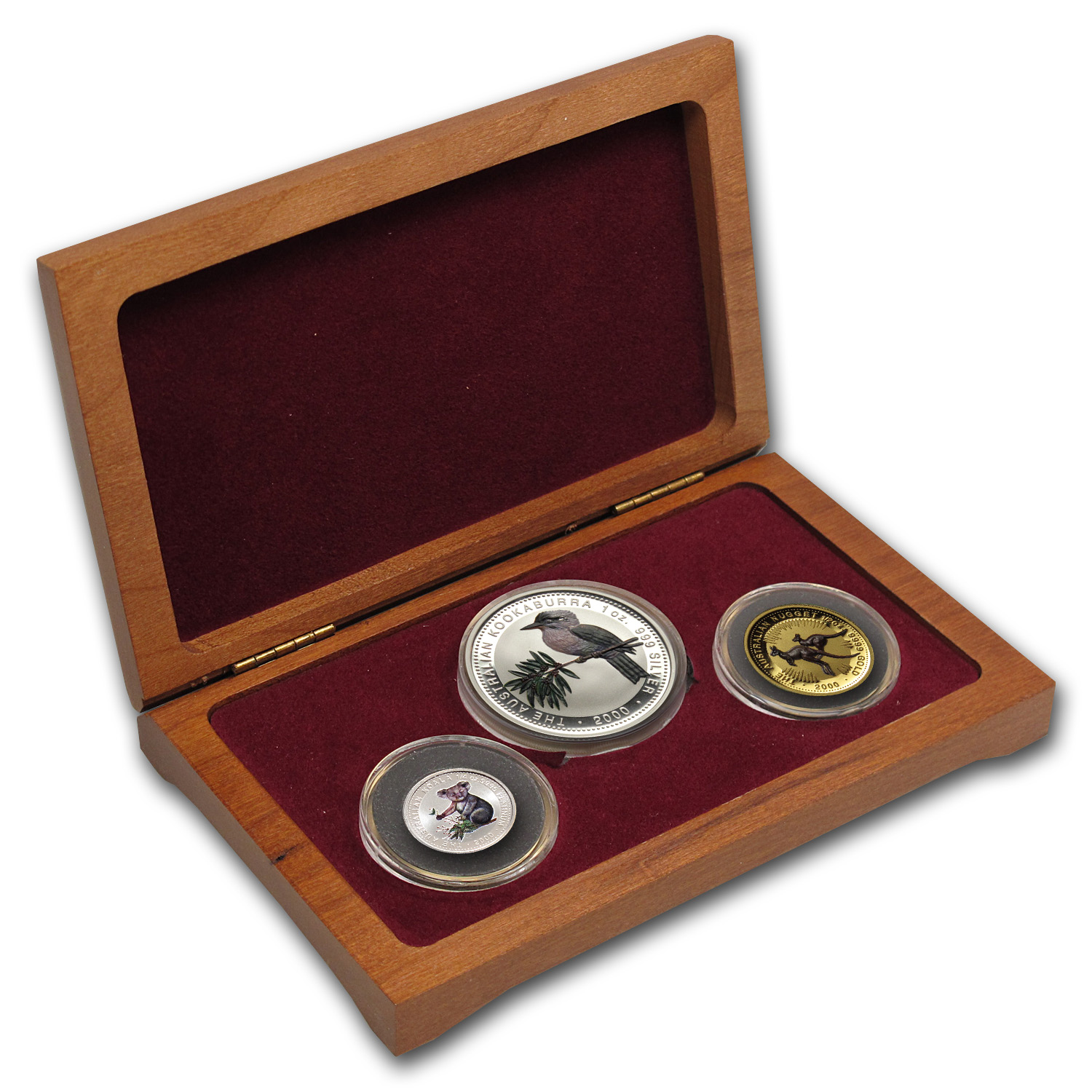 2000 Australia Proof Tri-Metal 3-coin Set