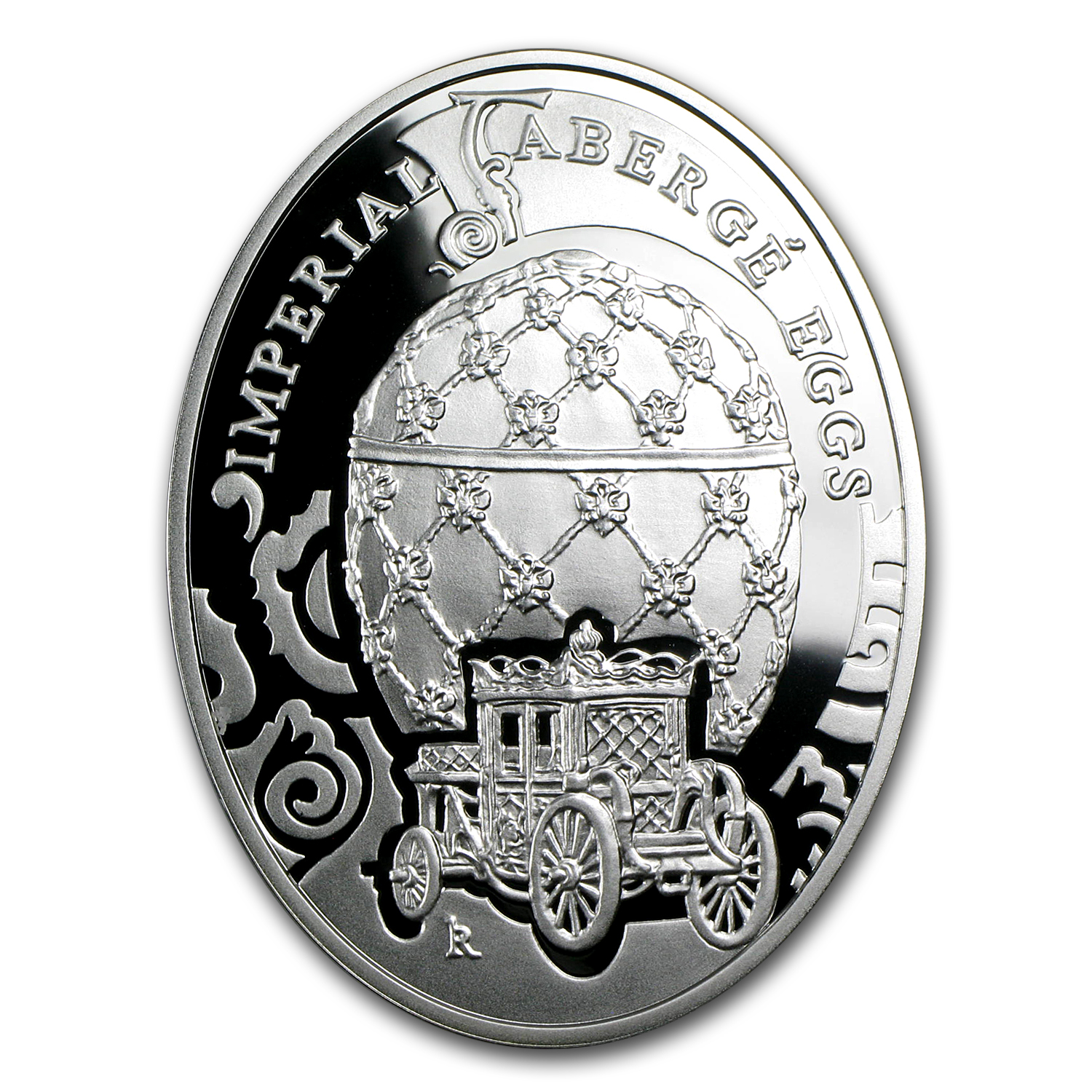 2010 Niue Proof Silver $2 Imperial Fabergé Eggs Coronation Egg