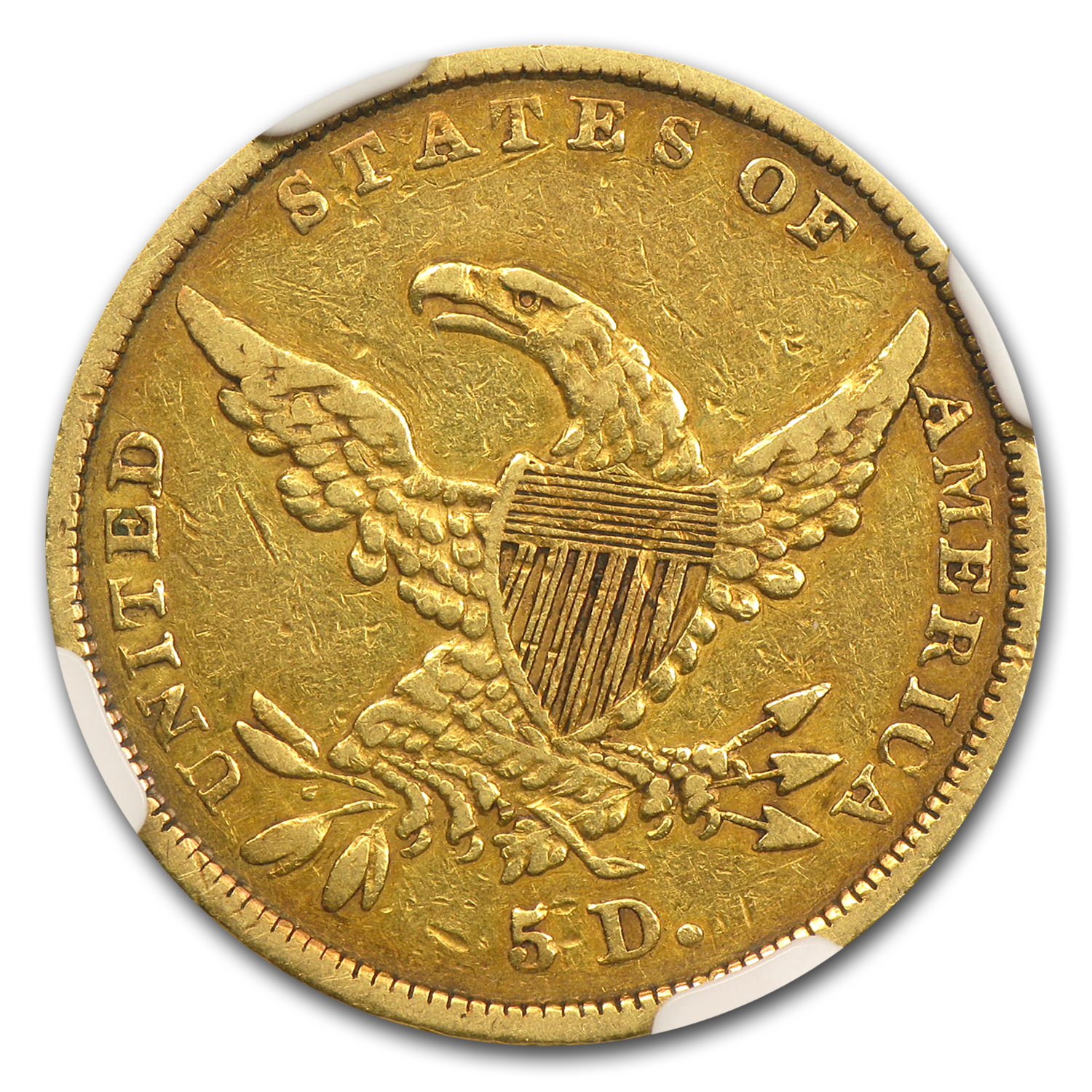 1836 $5 Gold Classic Head Half Eagle VF-25 NGC