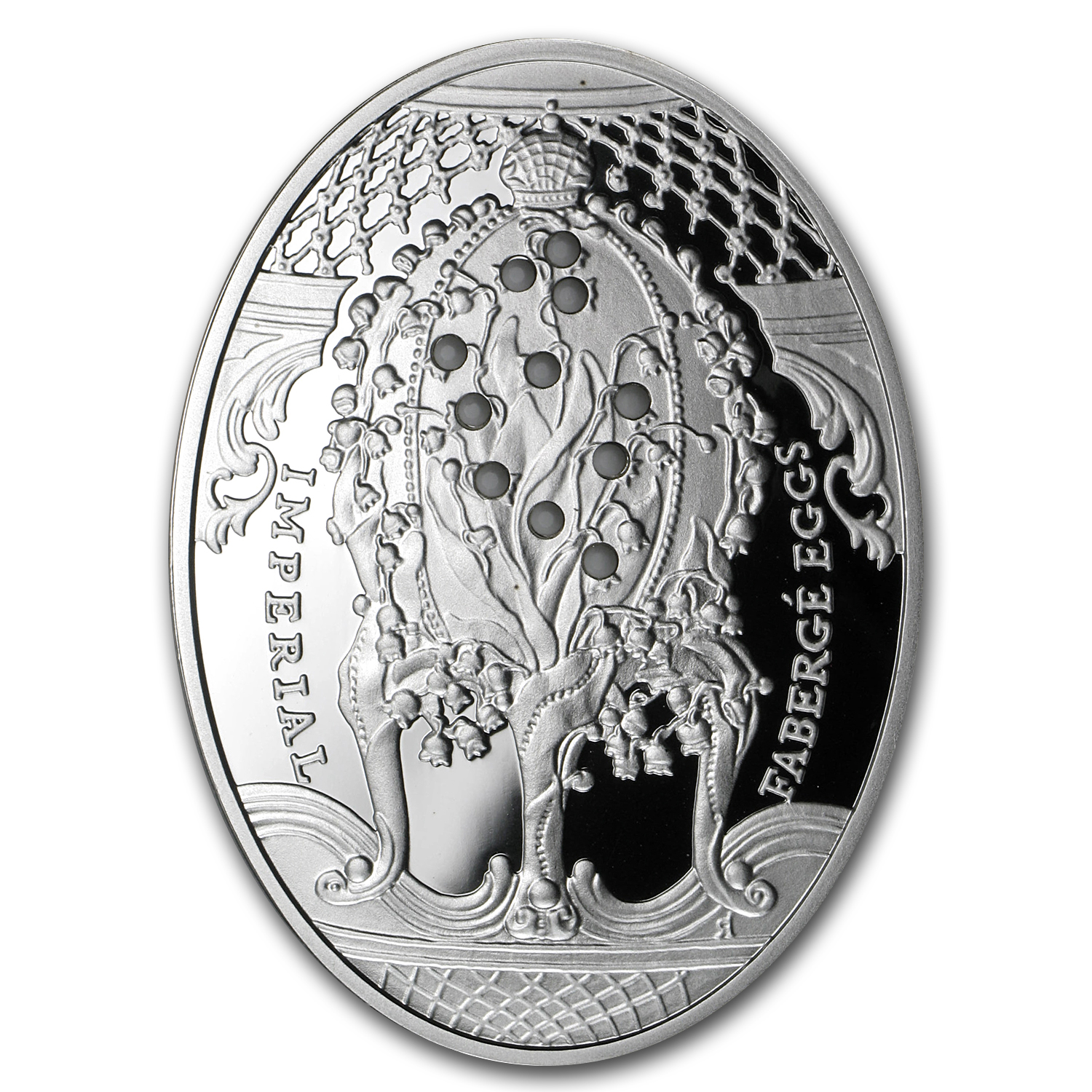 Niue 2010 Silver $2 Imperial Faberge Eggs - Lilies of the Valley