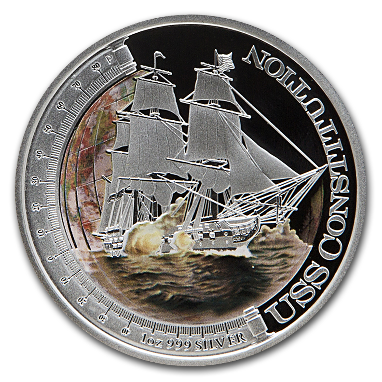 2012 1oz Prf Silver USS Constitution Ships that Changed the World