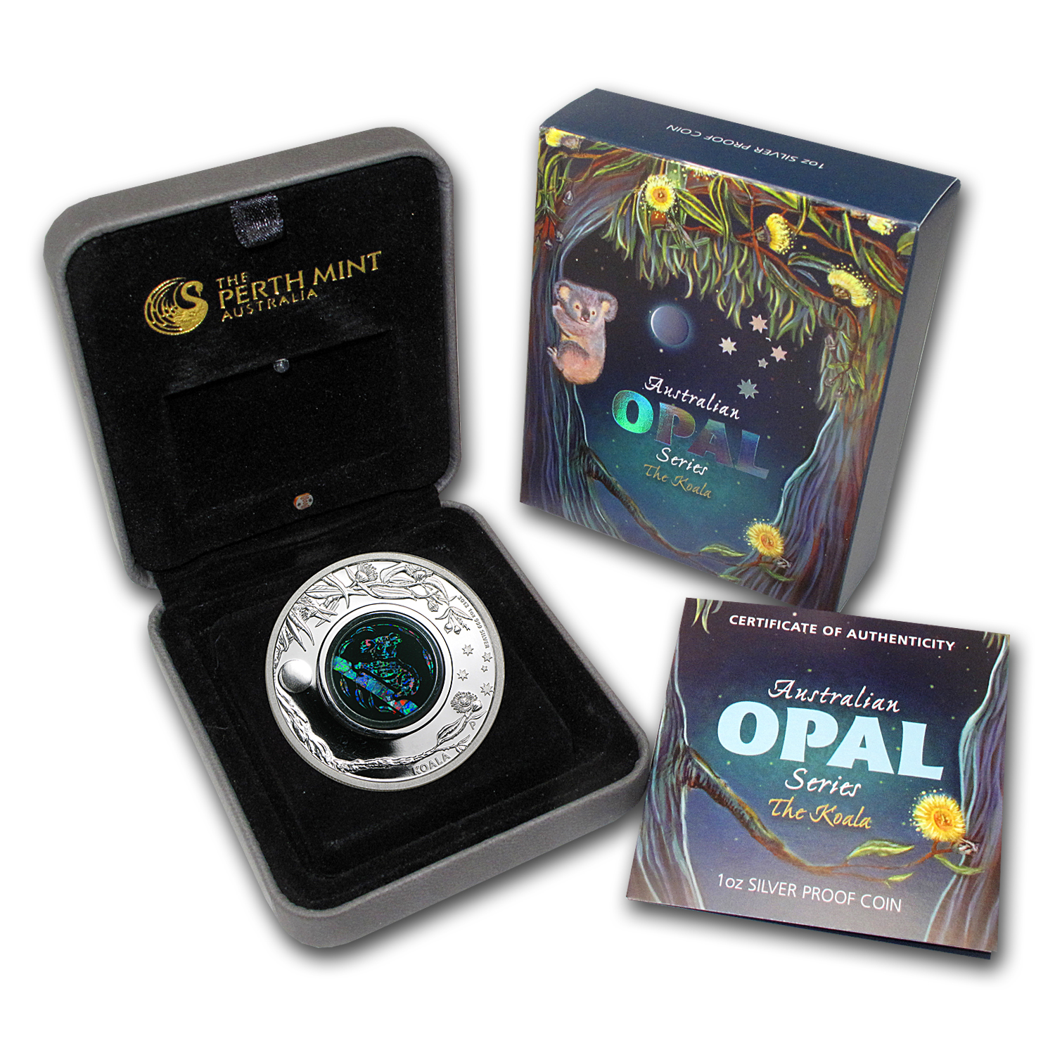 2012 1 oz Proof Silver Koala- Australian Opal Series