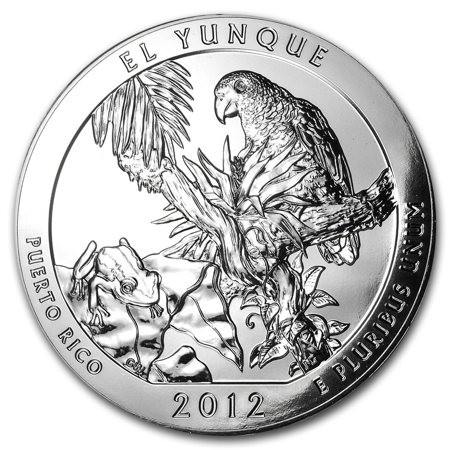 2012 5 oz Silver ATB El Yunque, PR (10-Coin MintDirect® Tube)