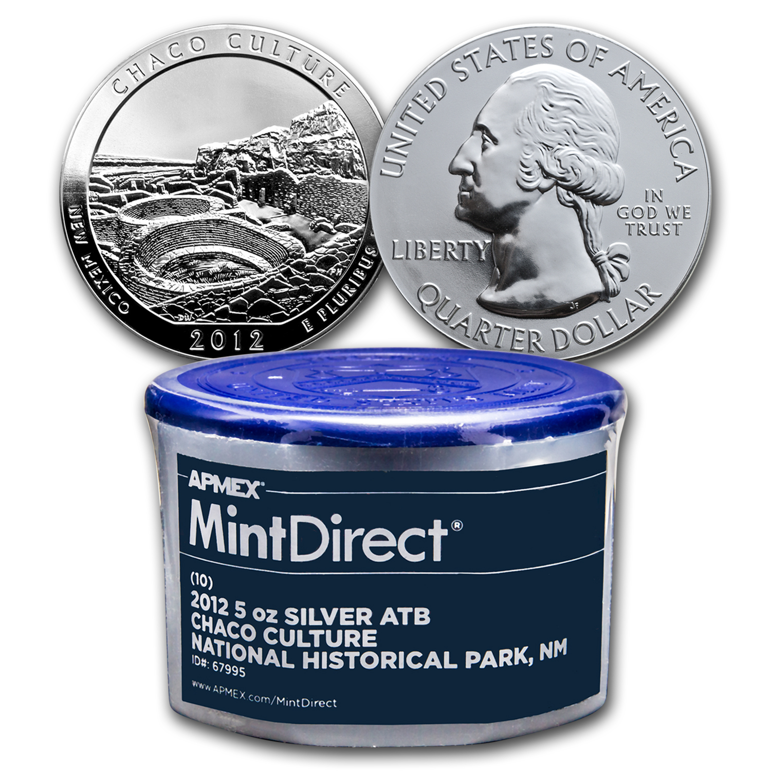 2012 5 oz Silver ATB Chaco Culture, NM (10-Coin MintDirect® Tube)