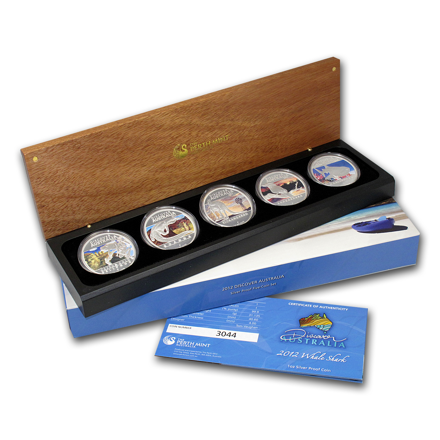 2012 5-Coin 1 oz Silver Discover Australia Proof Set