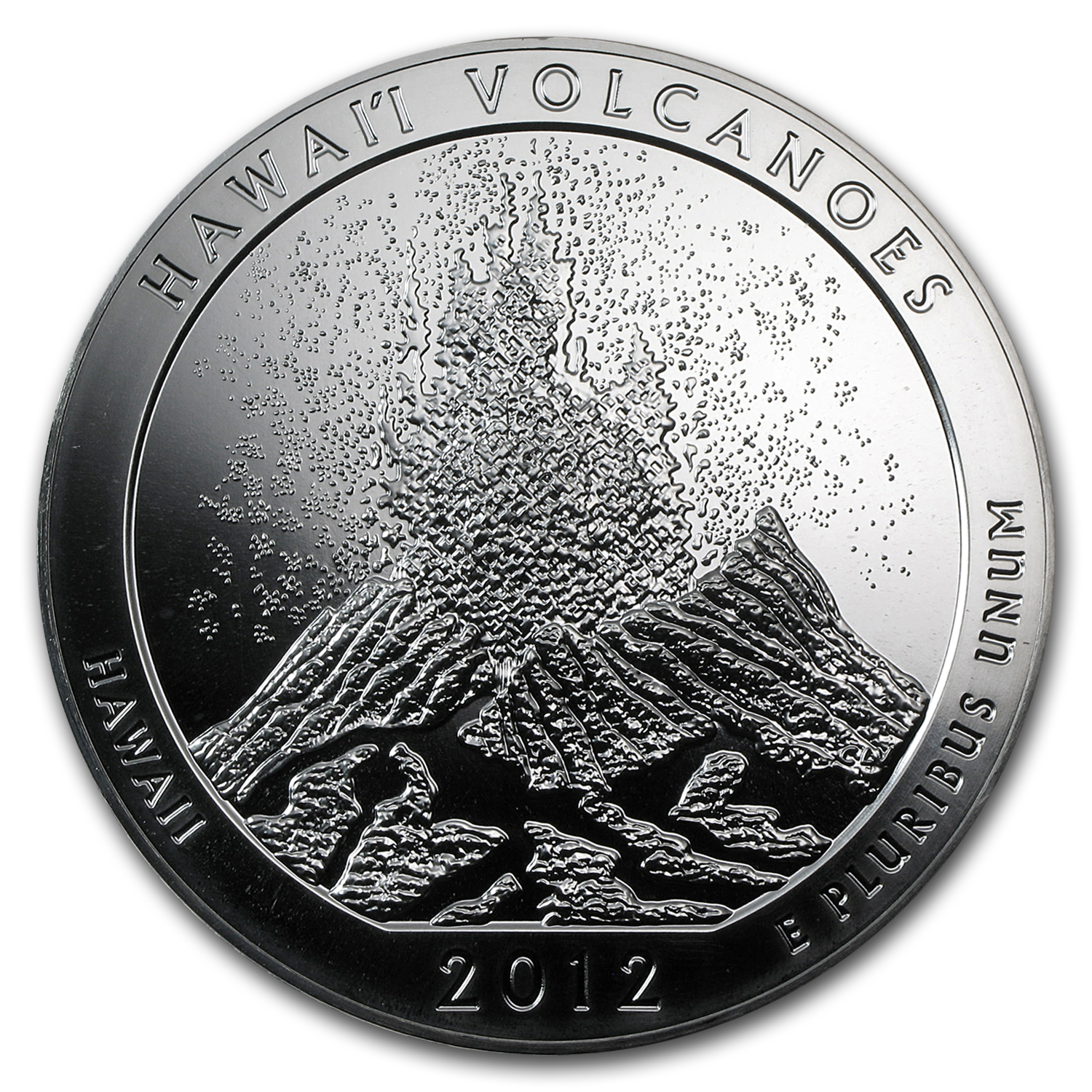 2012 5 oz Silver ATB Hawaii Volcanoes (10-Coin MintDirect® Tube)