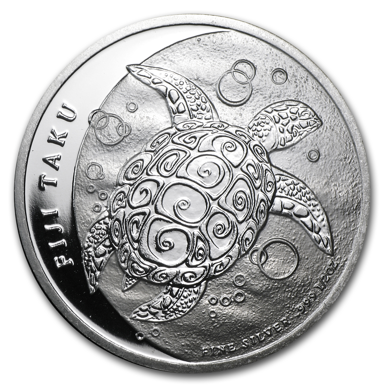 2012 1/2 oz Silver New Zealand Mint $1 Fiji Taku