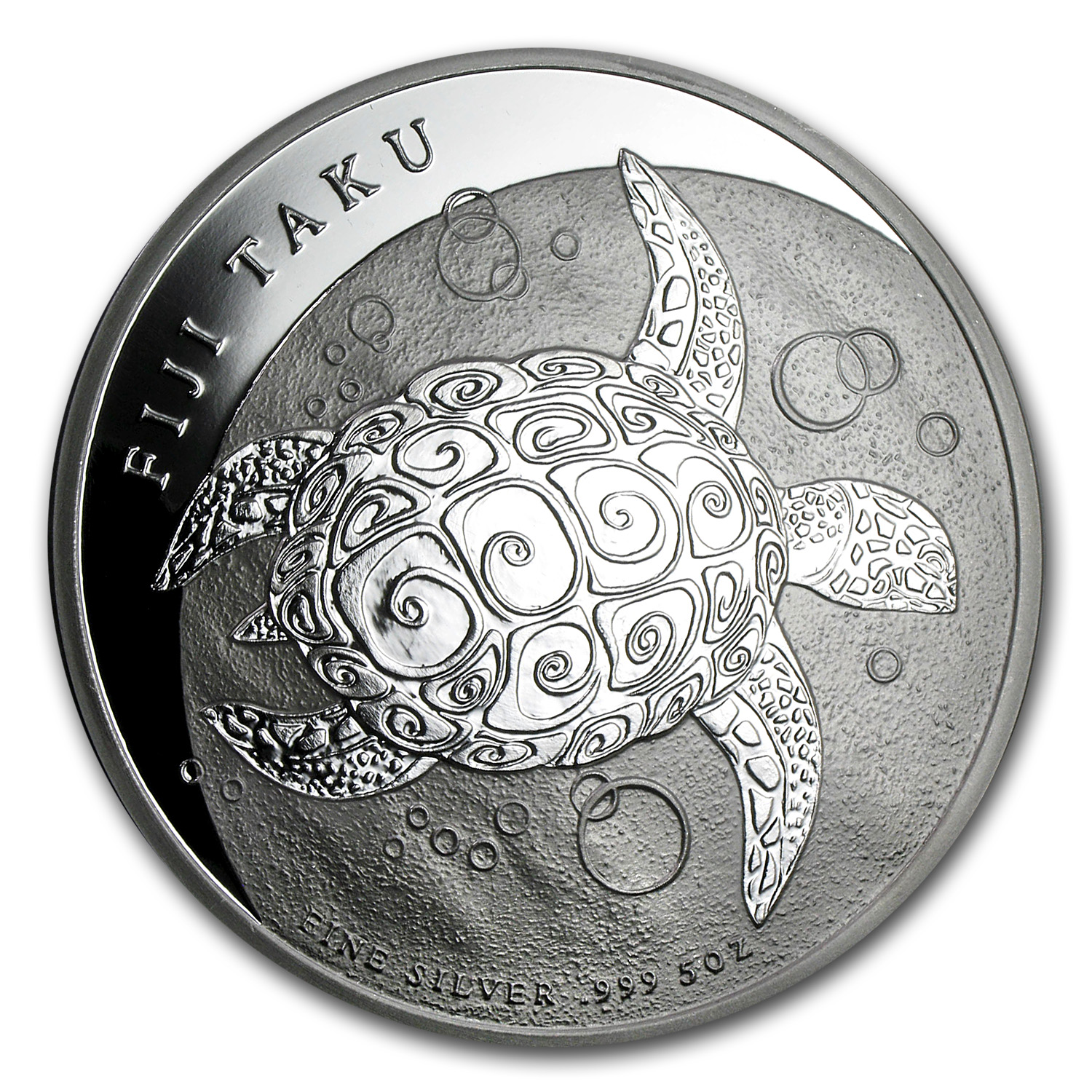 2012 5 oz Silver New Zealand Mint $10 Fiji Taku