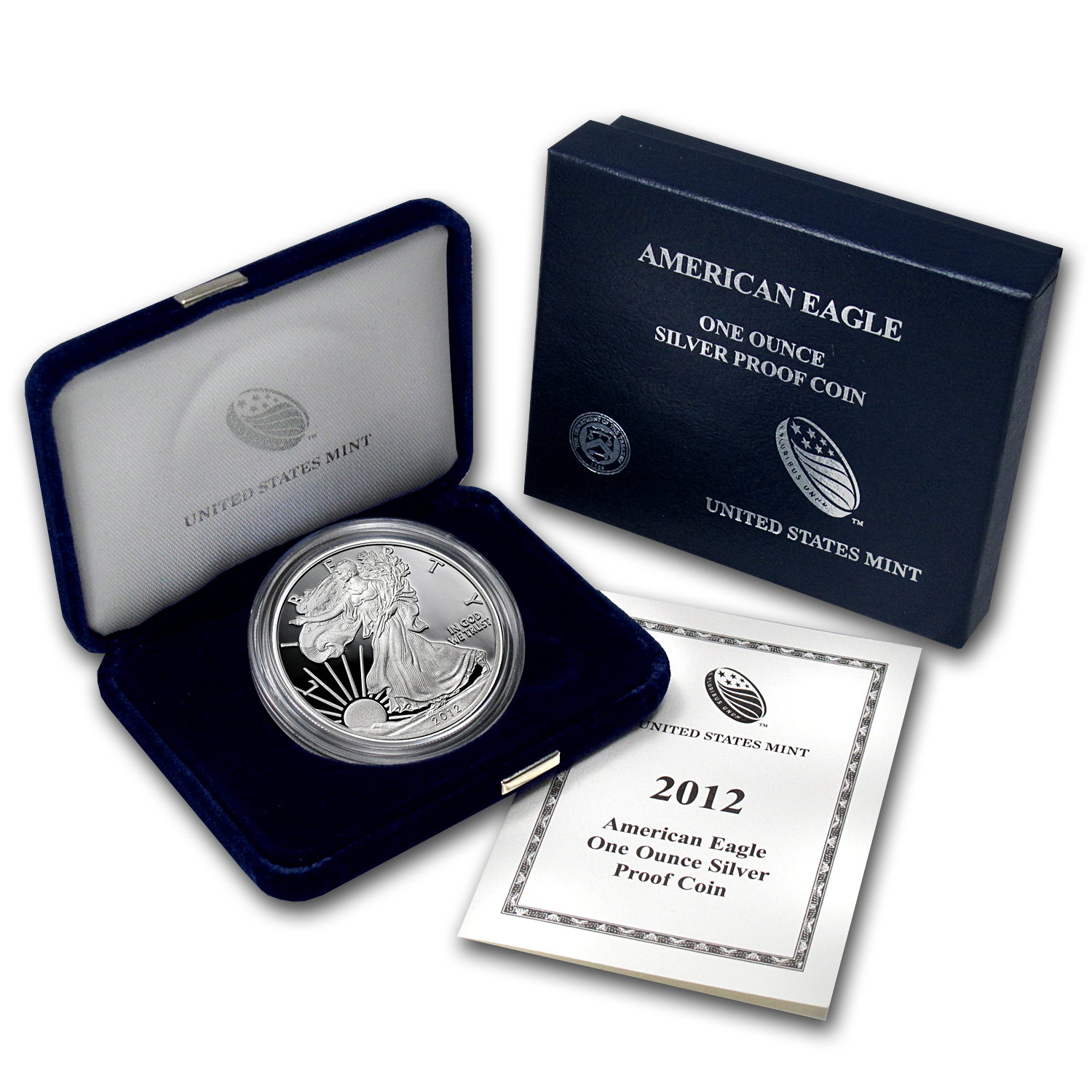 2012-W 1 oz Proof Silver American Eagle (w/Box & COA)