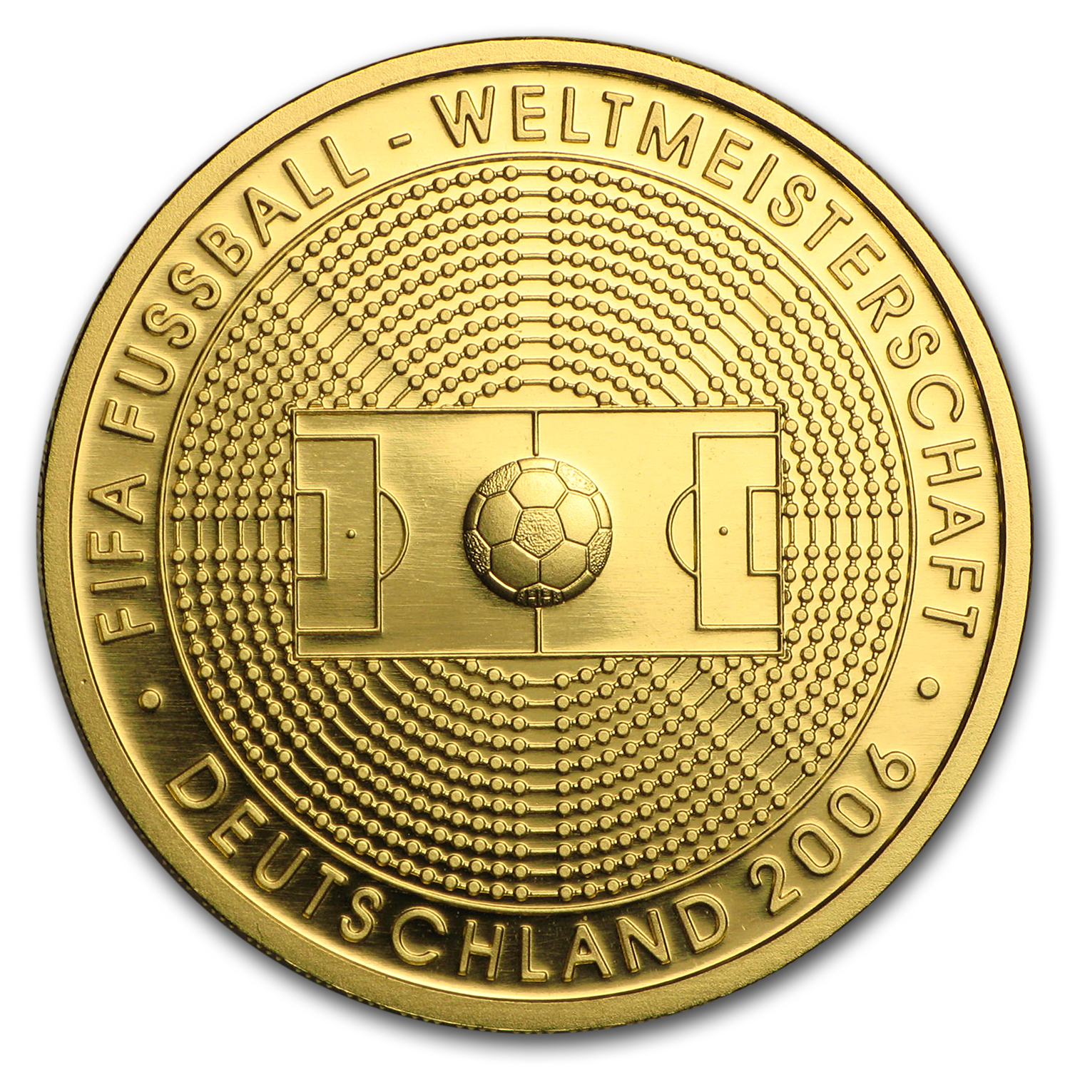 2005 Germany 1/2 oz Gold 100 Euro Soccer World Cup Germany BU