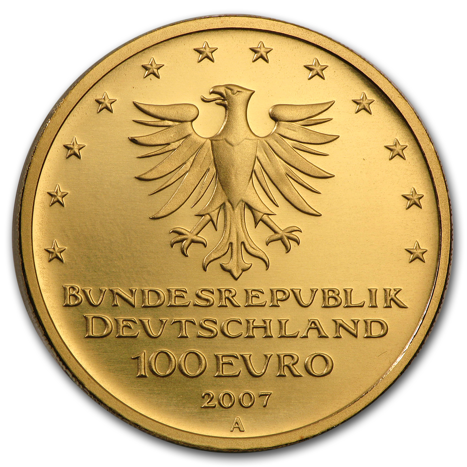 2007 Germany 1/2 oz Gold 100 Euro Lübeck BU