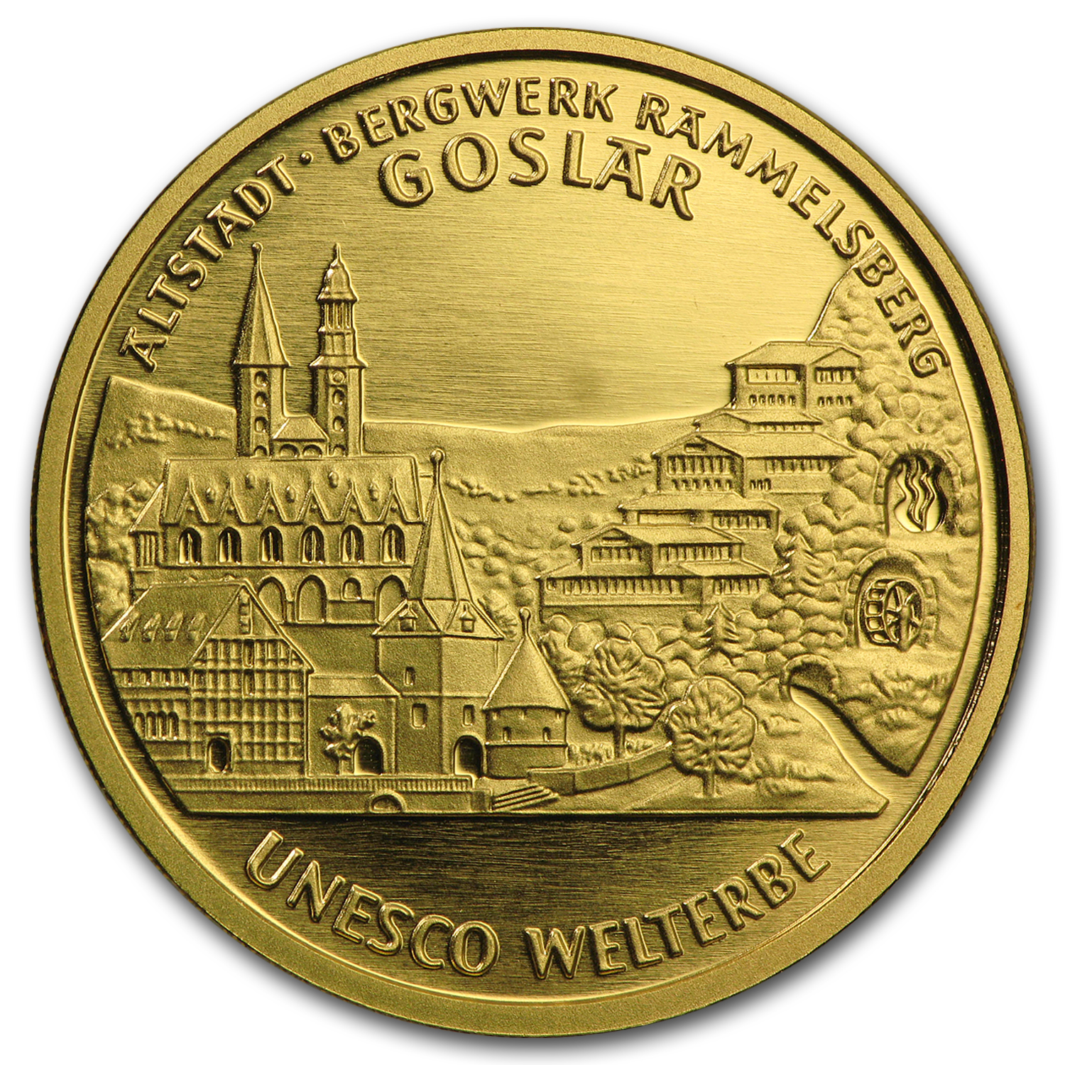 2008 Germany 1/2 oz Gold 100 Euro Goslar BU