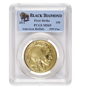 2012 1 oz Gold Buffalo MS-69 PCGS (FS, Black Diamond)