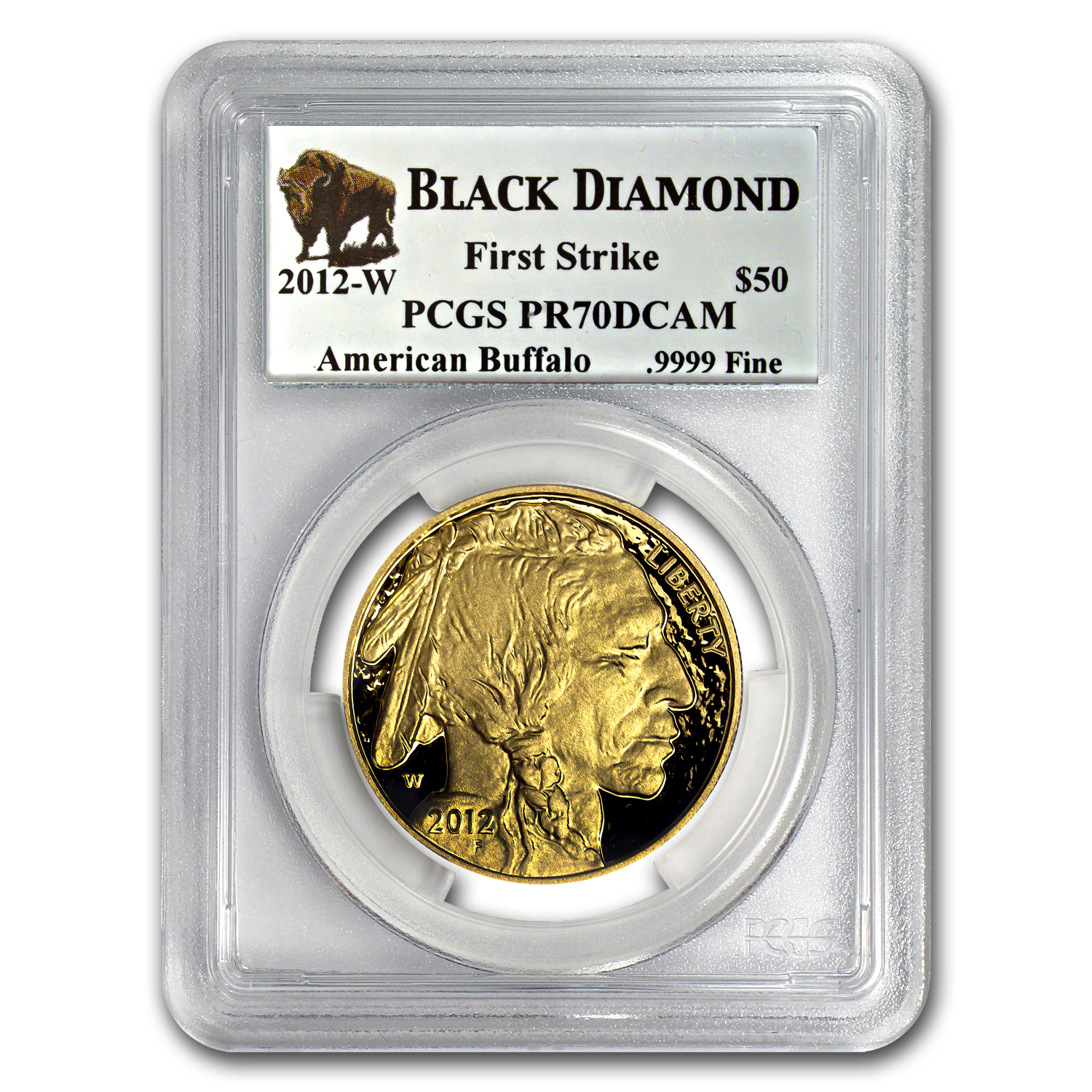 2012-W 1 oz Proof Gold Buffalo PR-70 PCGS (FS, Black Diamond)